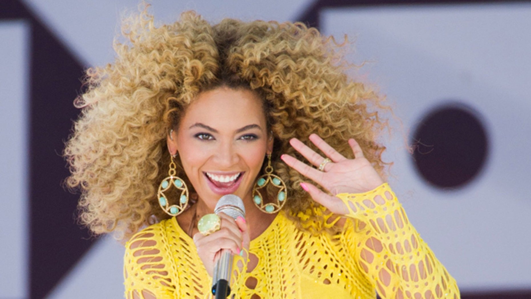 """July 1, 2011: In this file photo, Beyonce performs on ABC's """"Good Morning America"""" in New York."""