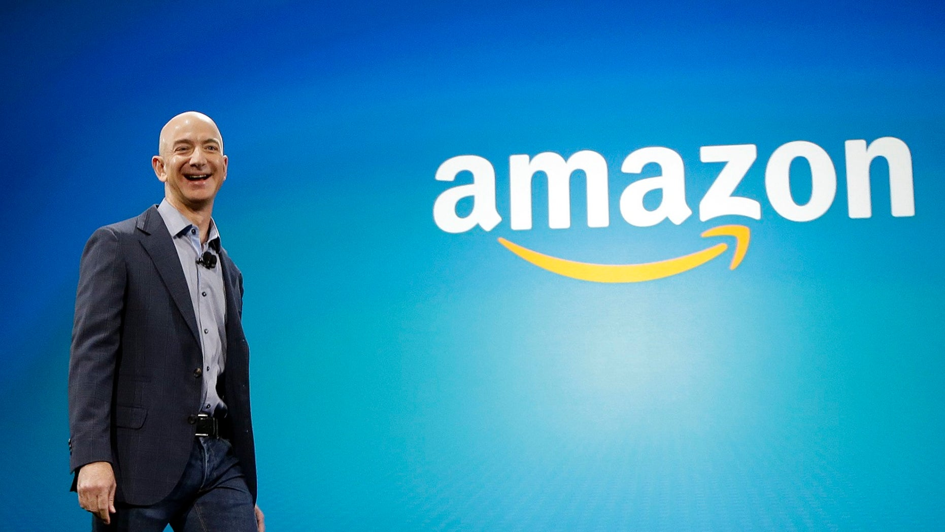 FILE - Amazon CEO Jeff Bezos.