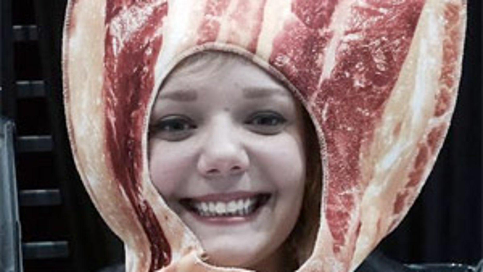Fest goer Alex Mane dressed up like a slice of bacon.