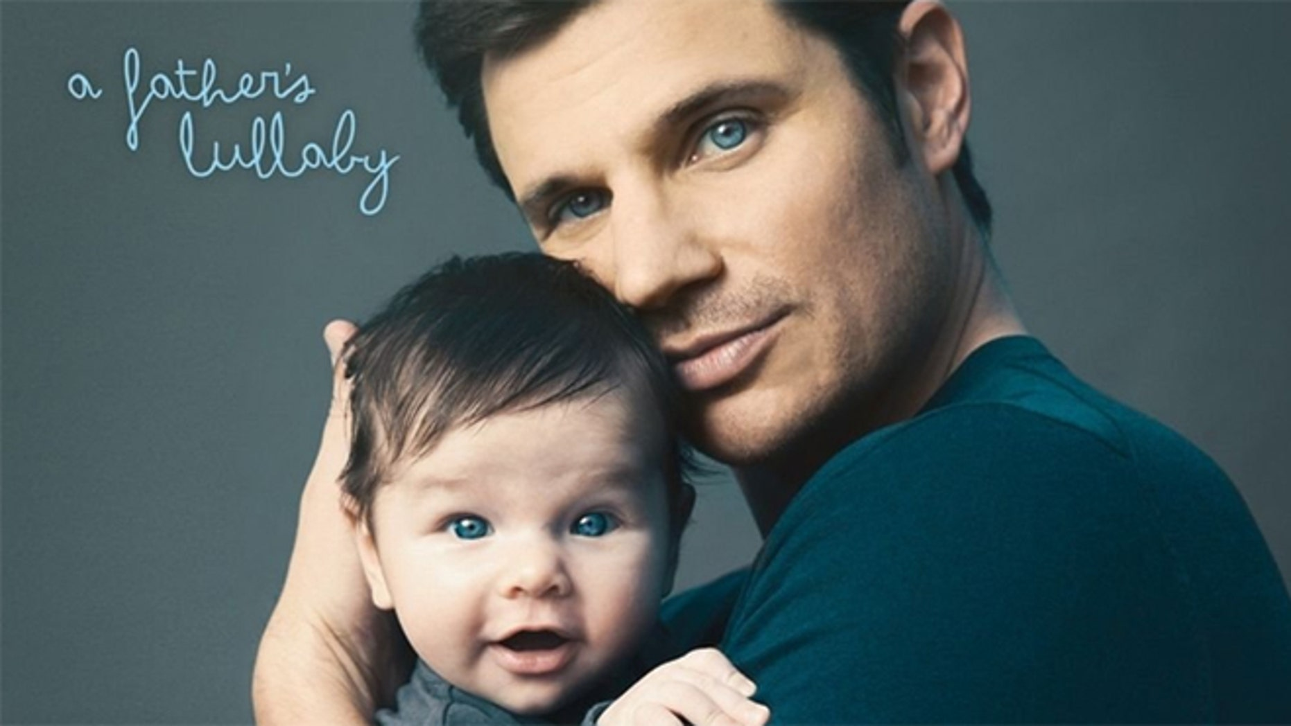 Nick Lachey poses with his son, Camden, for his album cover.