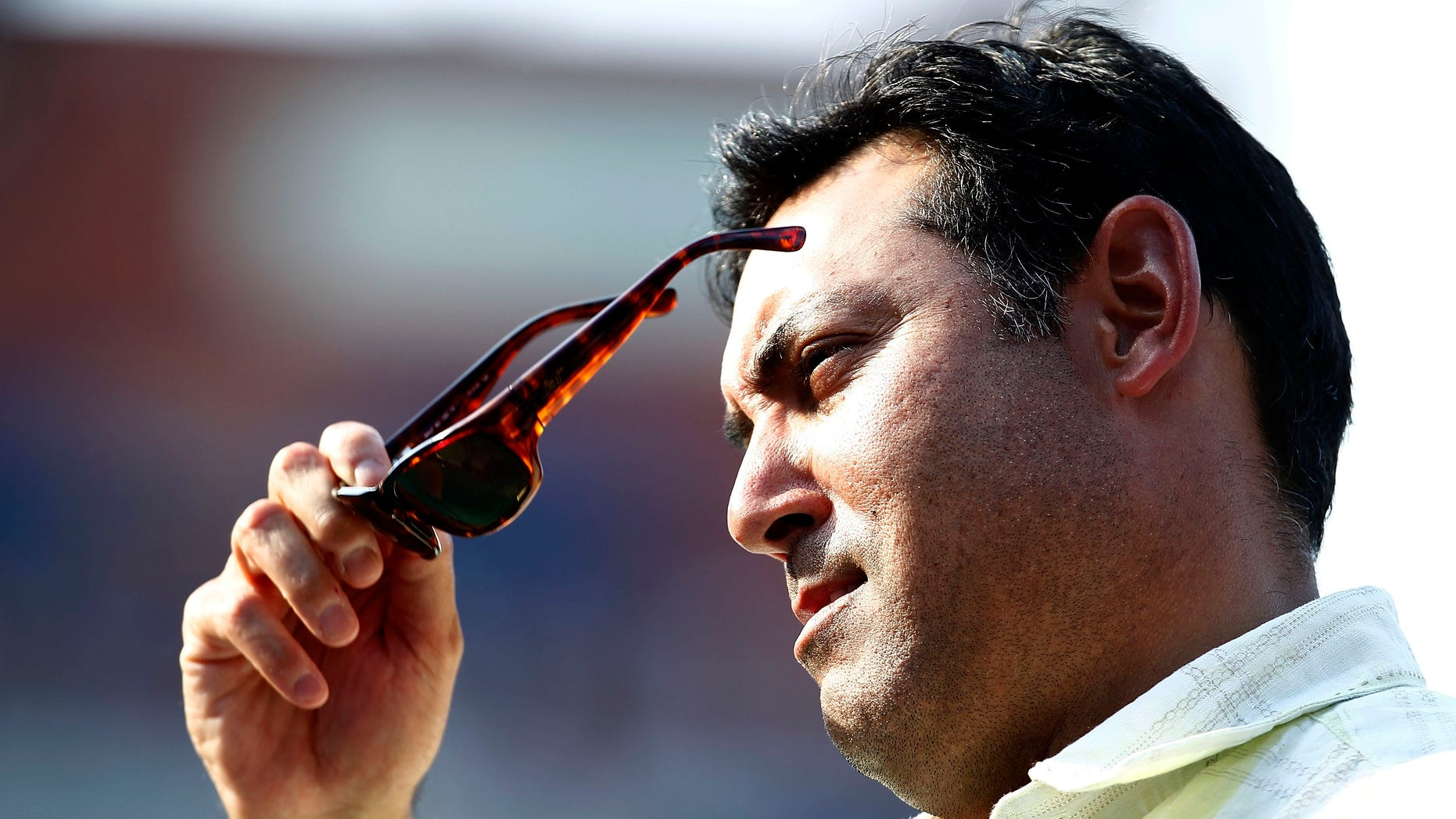 Julty 30:  Ruben Amaro, general manager of the Philadelphia Phillies watches batting practice before a game against the Pittsburgh Pirates at Citizens Bank Park. (Photo by Jeff Zelevansky/Getty Images)