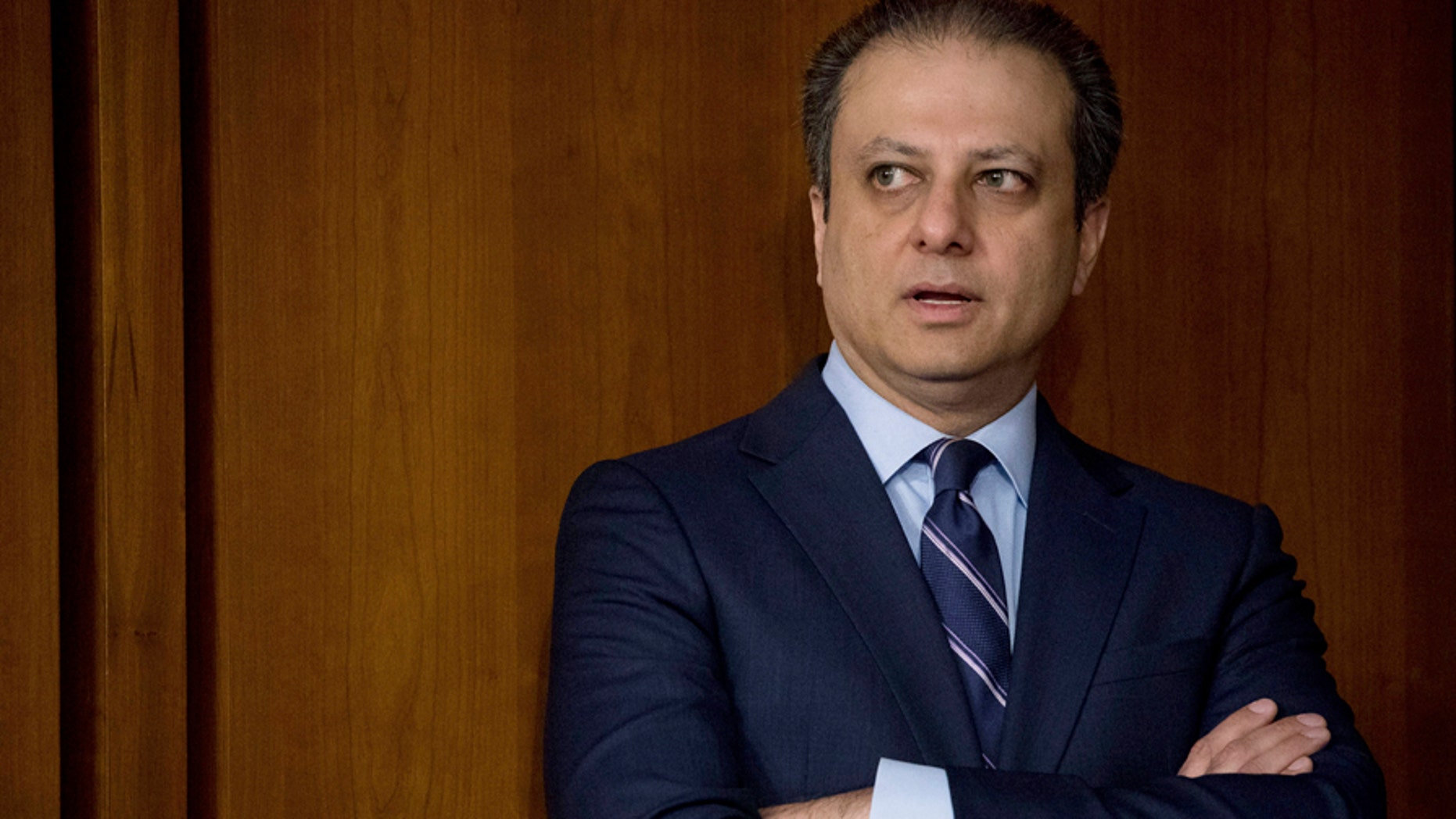 Former United States Attorney for the Southern District of New York Preet Bharara arrives before former FBI director James Comey testifies at a Senate Intelligence Committee hearing on Capitol Hill in Washington, June 8, 2017.