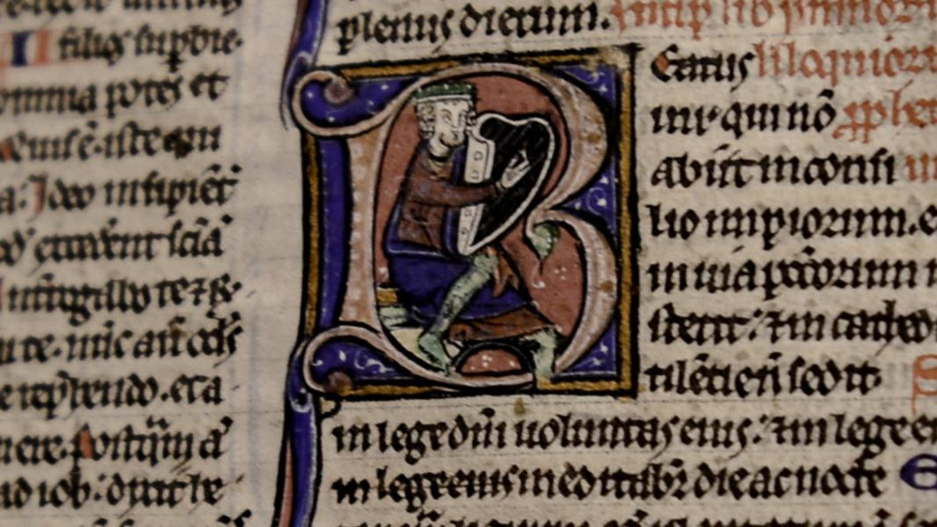 A page from the the Lyghfield Bible (Canterbury Cathedral)