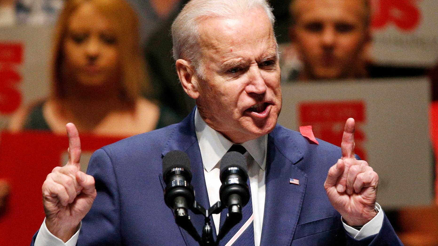 April 7, 2016: Vice President Joe Biden speaks at an event in Las Vegas.
