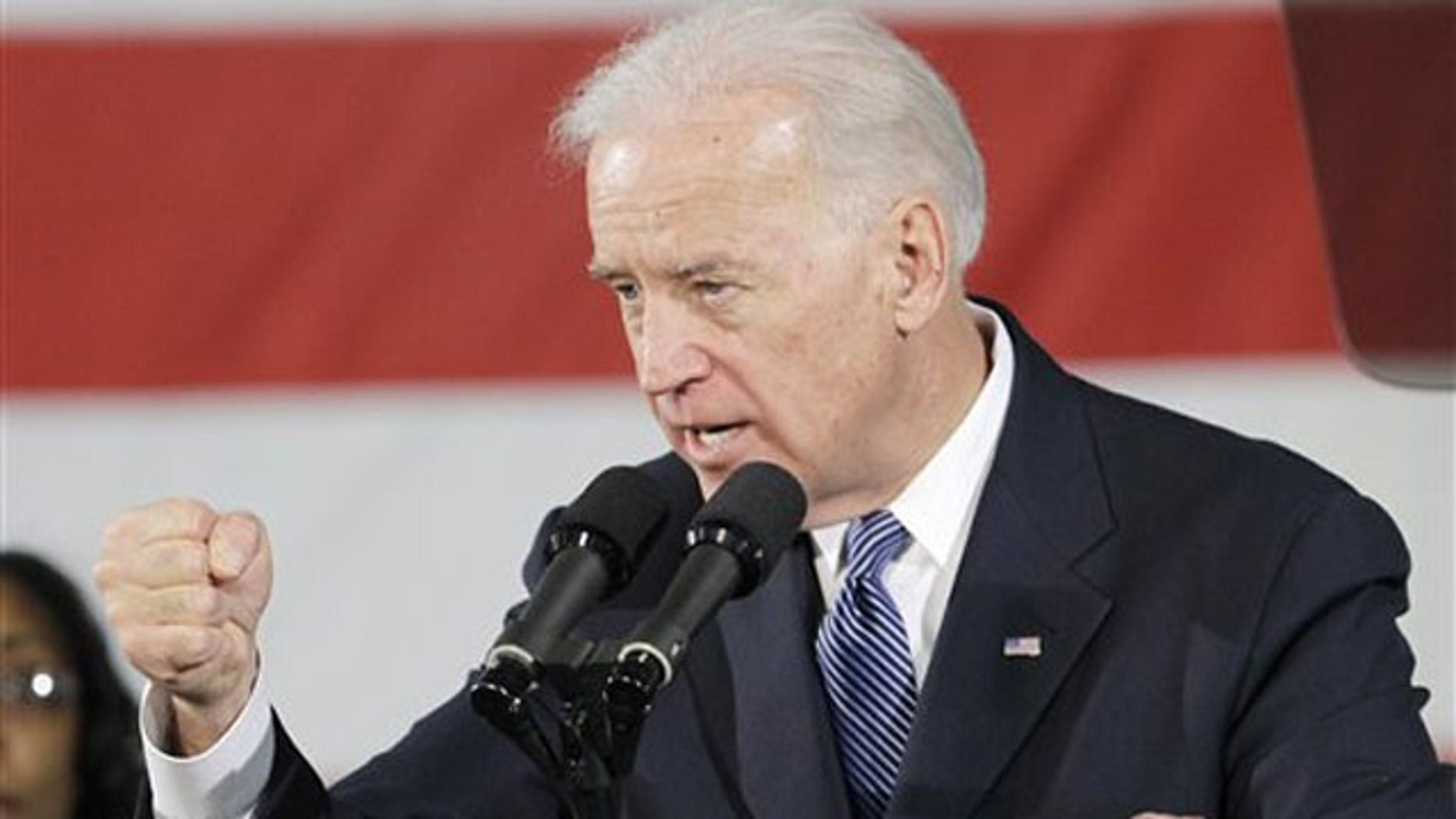 Vice President Joe Biden speaks at Ener1, Inc., in Greenfield, Ind., Jan. 26.