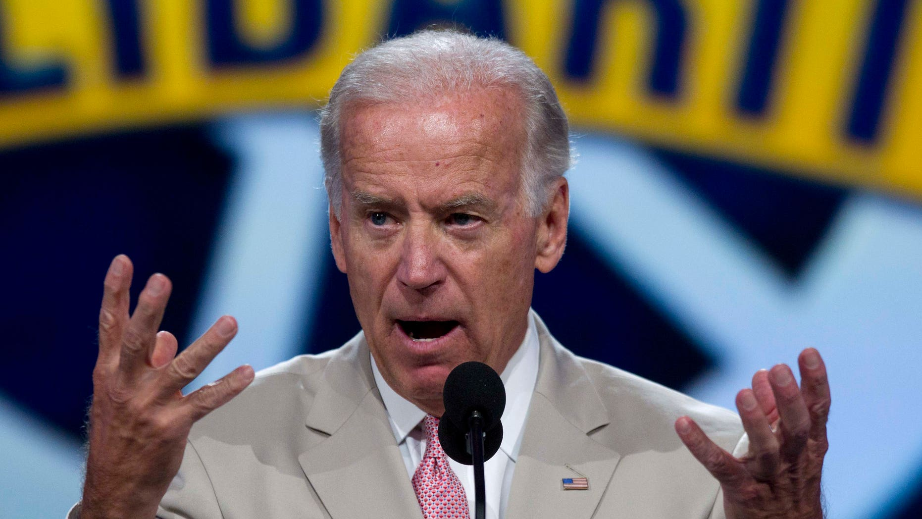 Vice President Biden addresses delegates and members at the union's international convention, Friday, July 1, 2011, in Las Vegas.
