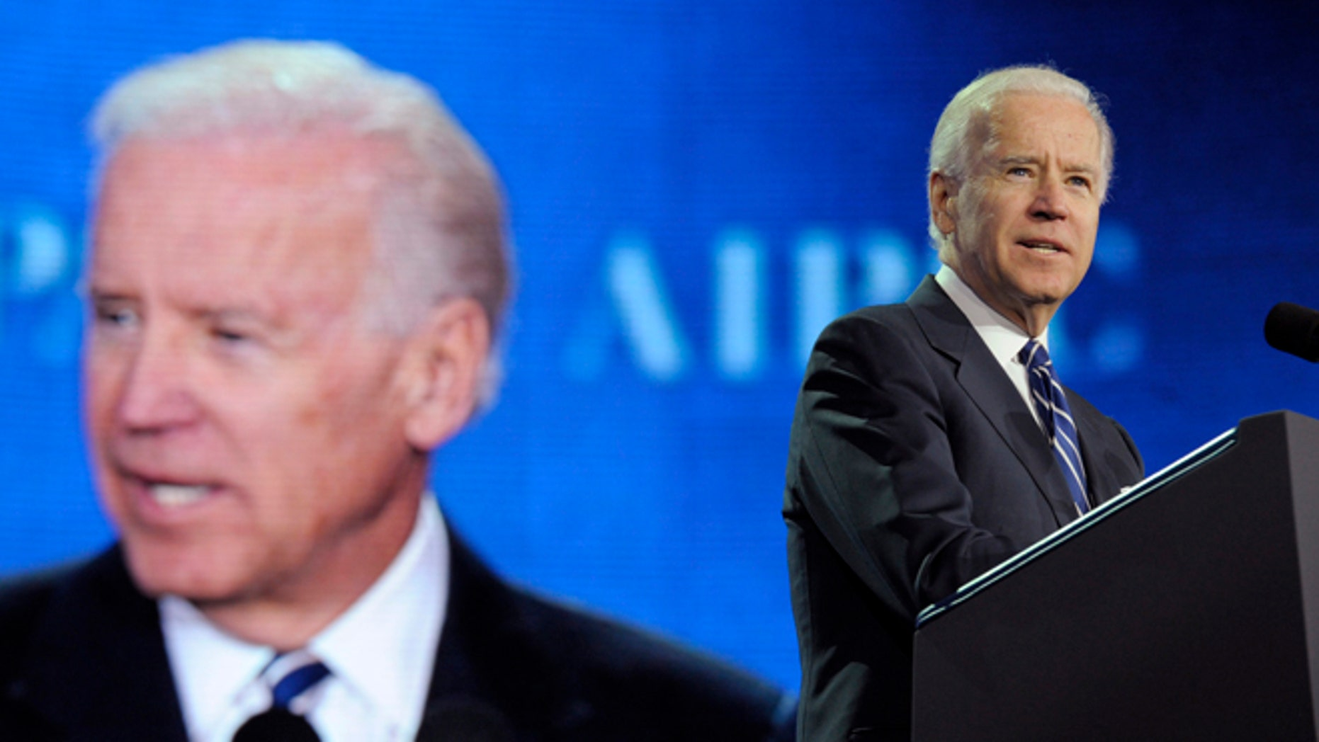 March 4, 2013: Vice President Joe Biden addresses the American-Israeli Public Affairs Committee (AIPAC) 2013 Policy Conference in Washington.