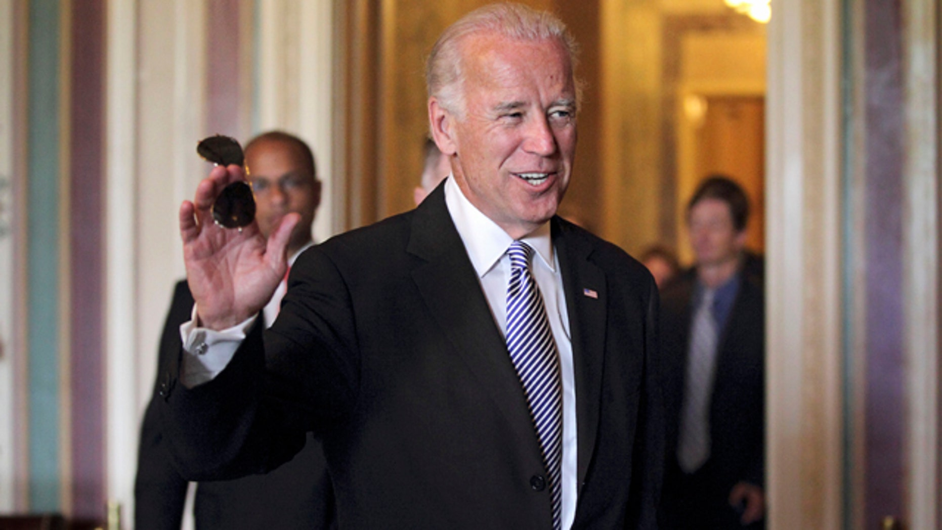 Tuesday: Vice President Joe Biden returns to Capitol Hill in Washington for continuing negotiations between Republicans and Democrats in Congress on how to solve America's debt crisis and budget problems.