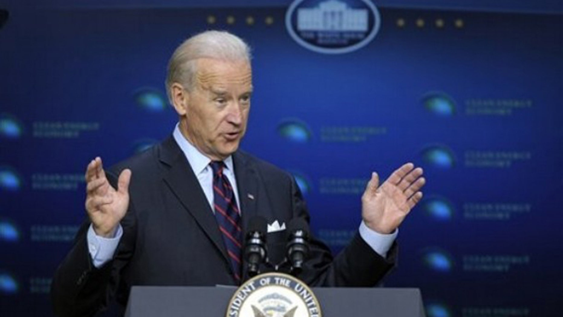 Vice President Biden speaks in Washington April 21. (AP Photo)