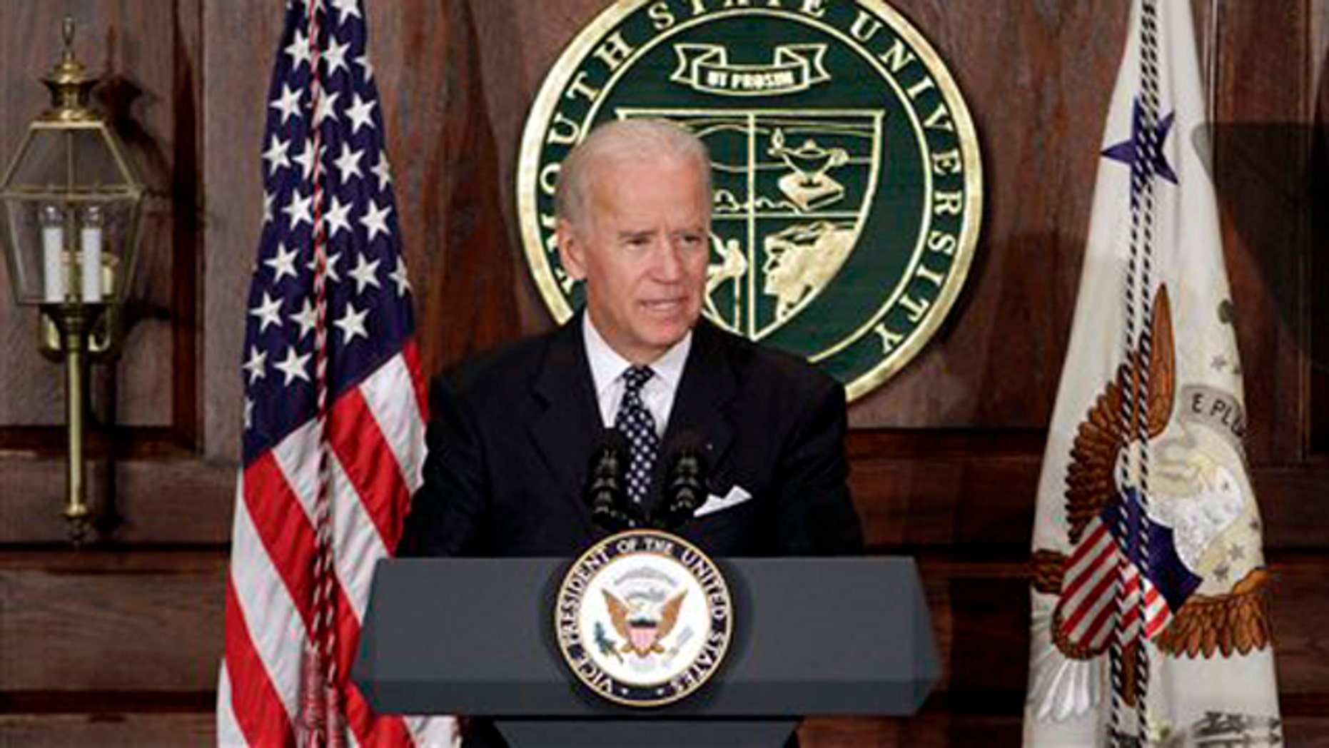 Oct. 20, 2011: Vice President Biden speaks to students at Plymouth State University in Plymouth, N.H.