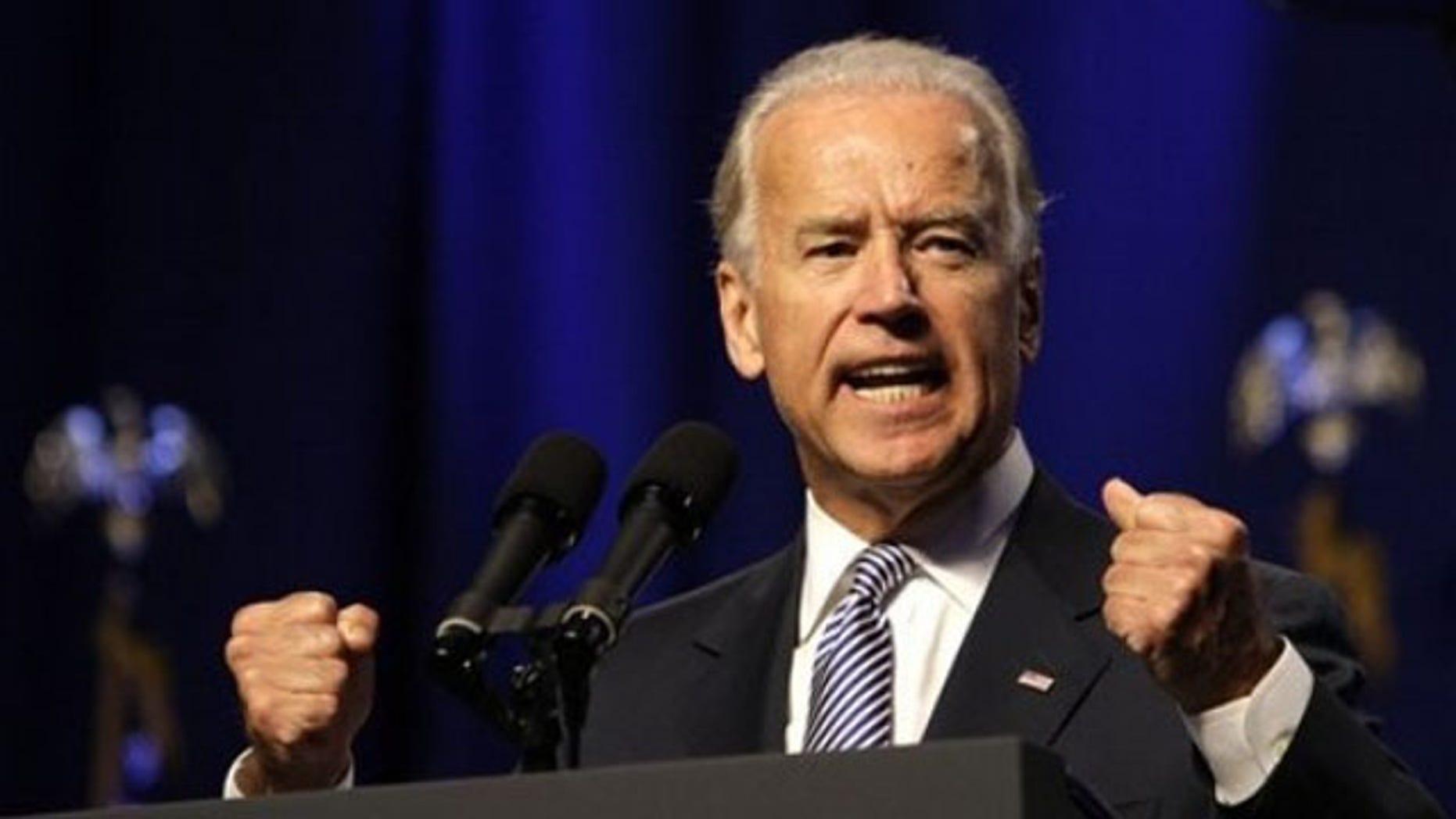Vice President Biden speaks at the Ohio Democratic Party's annual state dinner June 25 in Columbus, Ohio.