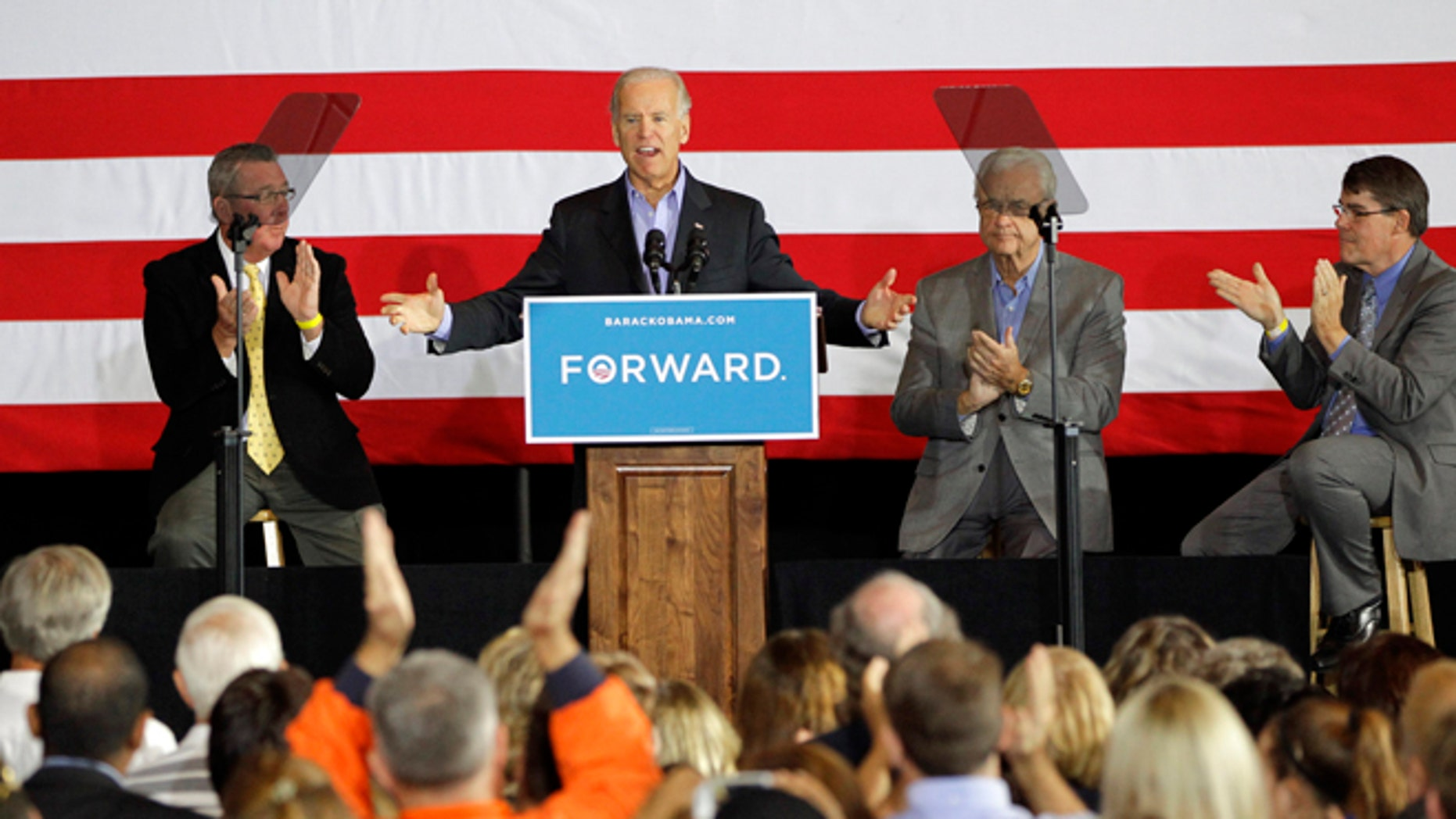 Oct. 4, 2012: Vice President Joe Biden speaks in Council Bluffs, Iowa, Thursday.