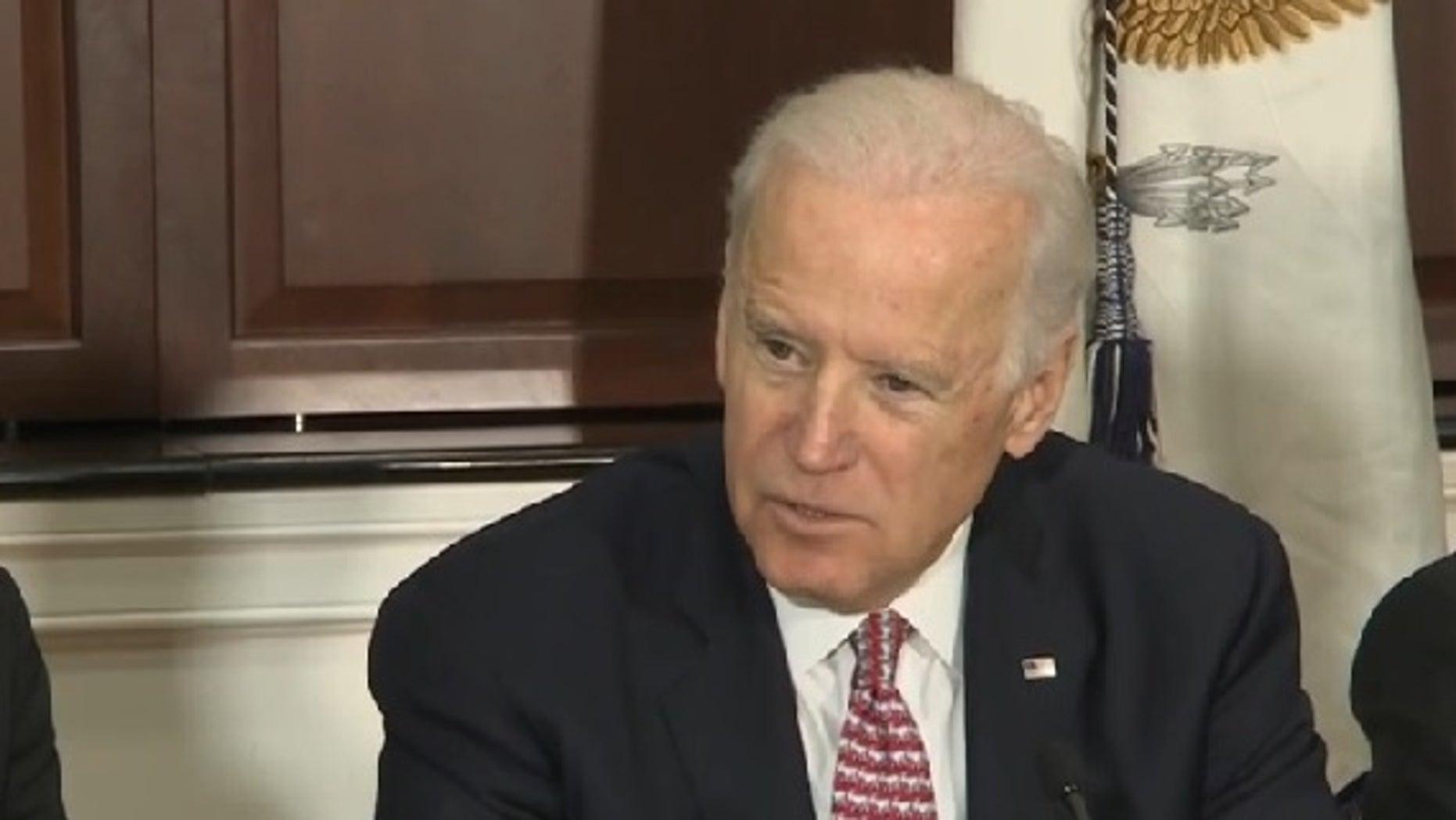 Joe Biden. Screen capture from C-SPAN.