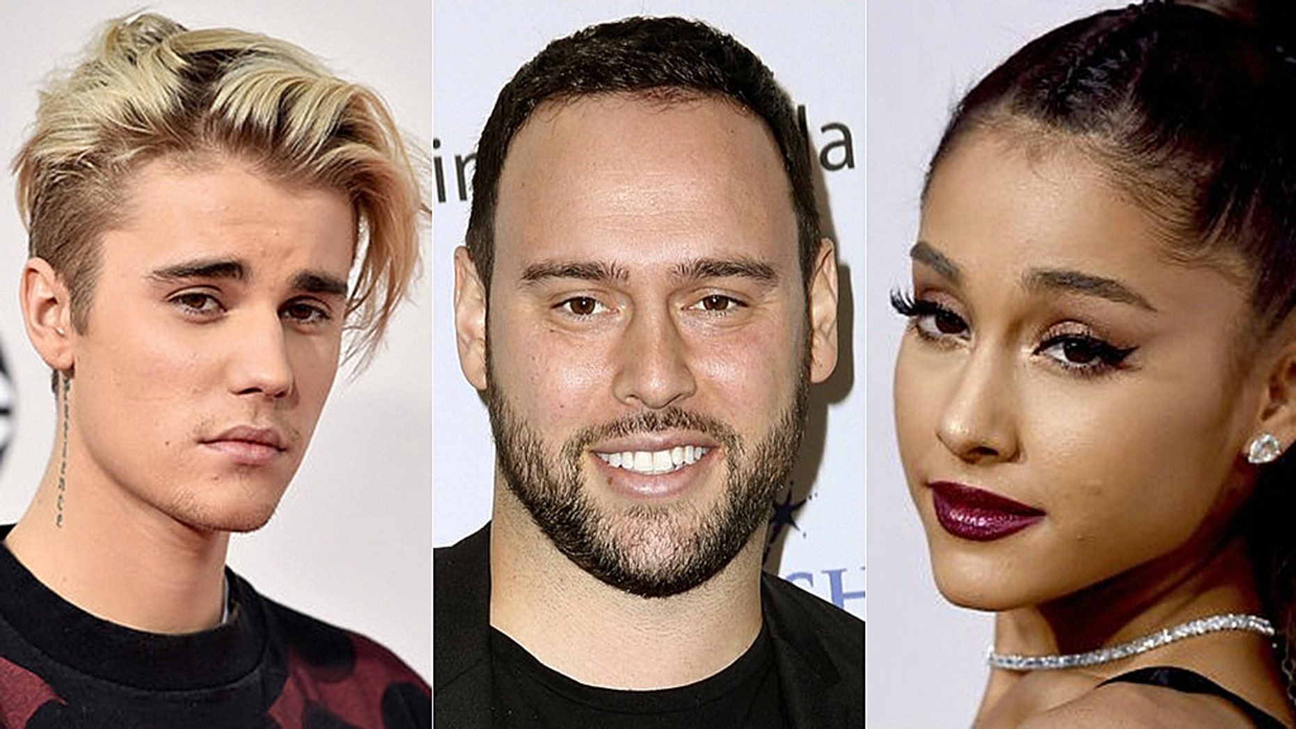 Ariana Grande came to Justin Bieber and Scooter Braun's defense after a fan tweeted about the singers' engagements and their manager.
