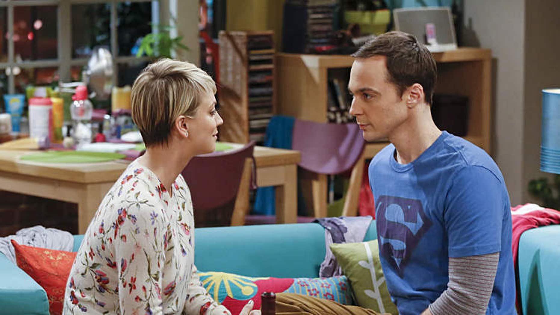 """Image features """"The Big Bang Theory"""" stars Jim Parsons and Kaley Cuoco"""