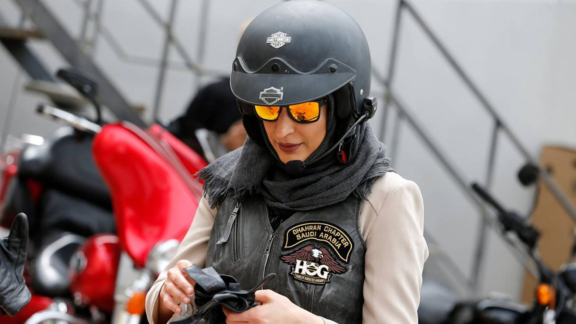 Women are learning to ride motorcycles in Saudia Arabia