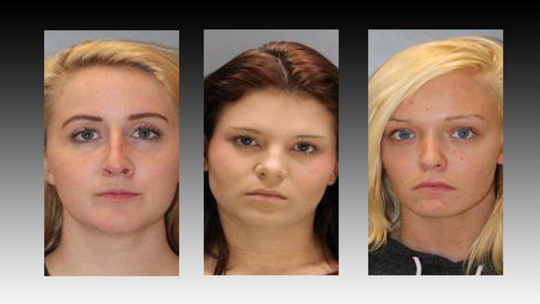 Mugs shots taken of Megan Williams, Anns Leigh Hil and Arlinda Craft. (Columbia Police Department)