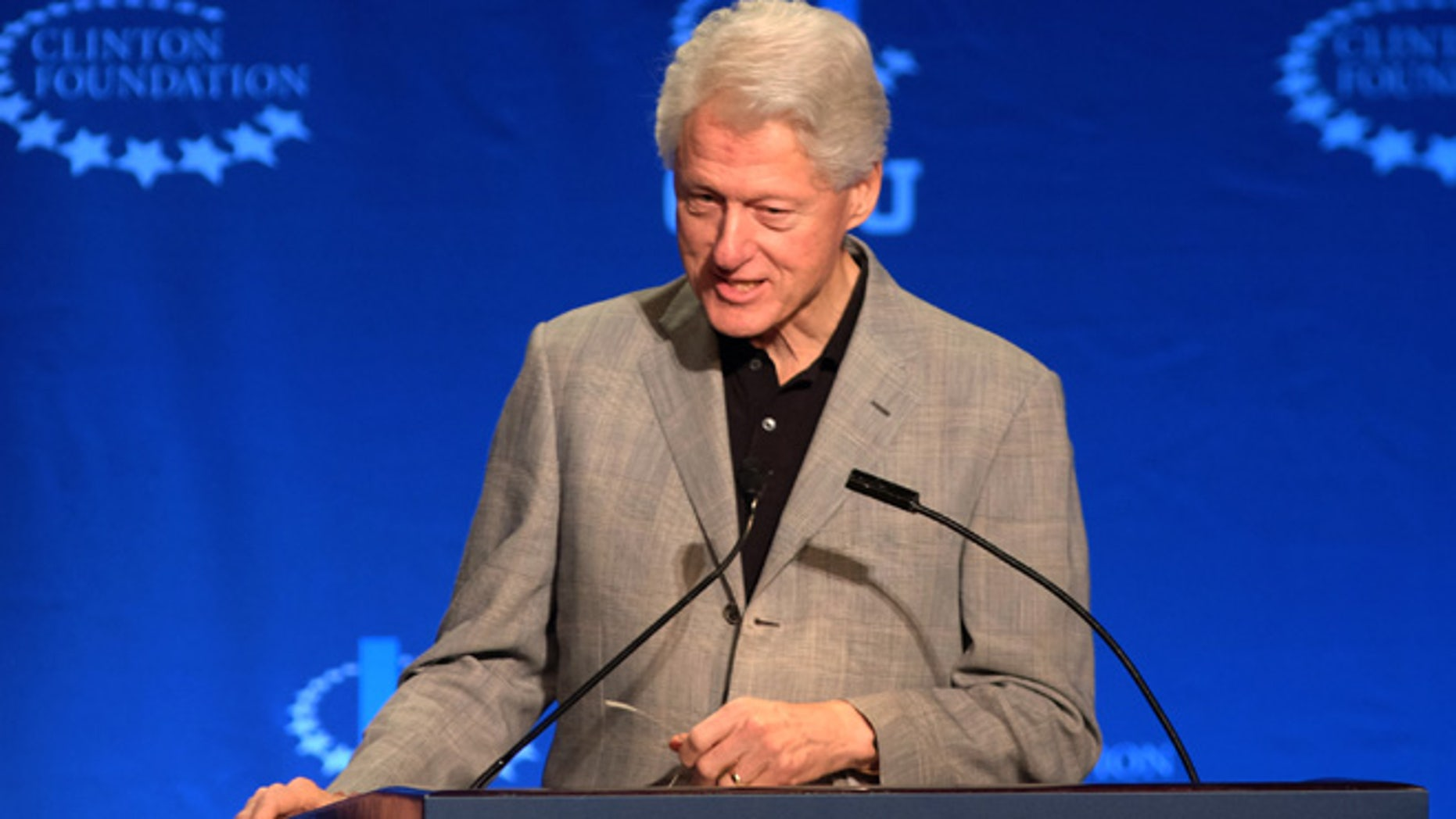 March 7, 2015: Former President Bill Clinton, speaks the Future of Energy session at a university conference sponsored by the Clinton Global Initiative in Coral Gables, Fla.(AP)