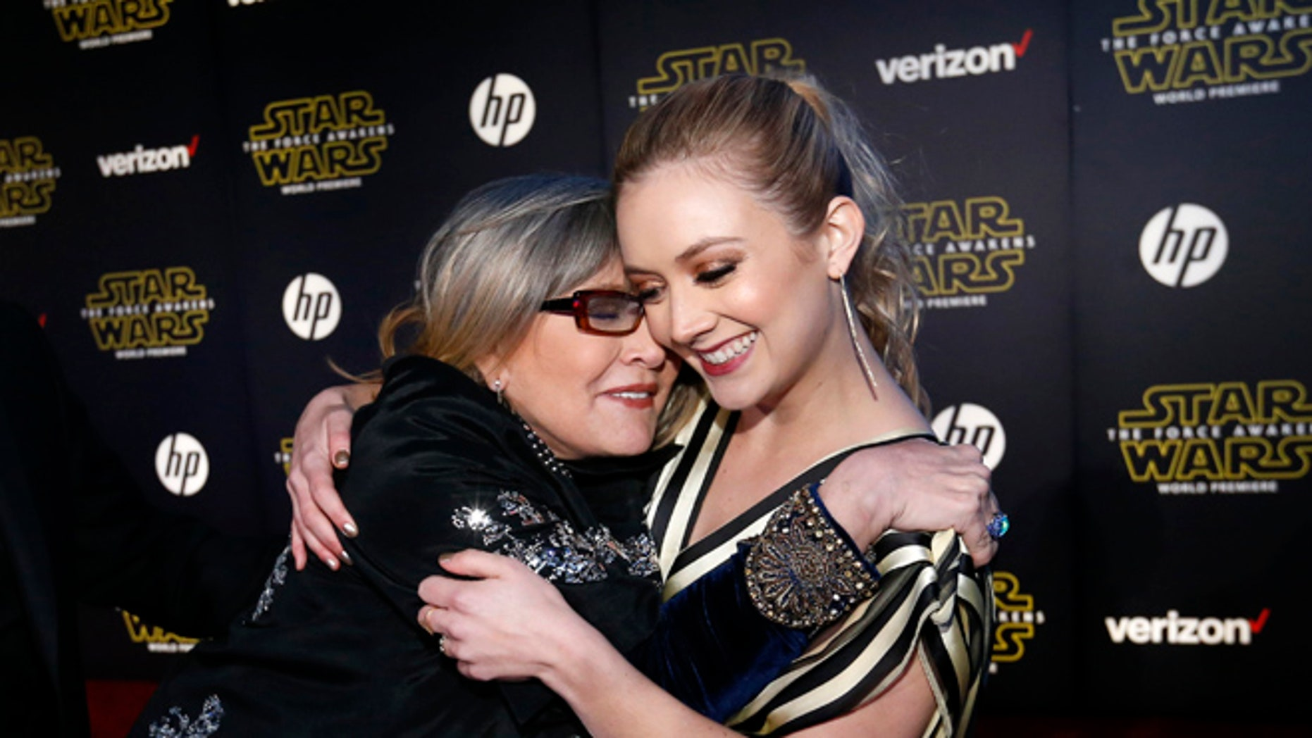 """Billie Lourd is handling the loss of her mother, Carrie Fisher and grandmother Debbie Reynolds very well says a""""Scream Queens"""" co-star."""