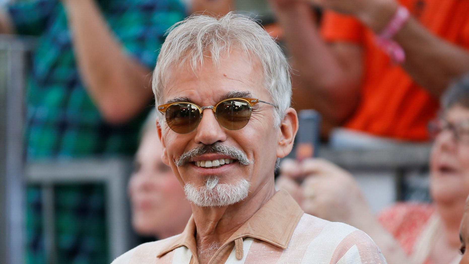 Actor Billy Bob Thornton smiles during a ceremony honoring actor Kathy Bates with a star on the Hollywood Walk of Fame in Hollywood, California September 20, 2016. REUTERS/Danny Moloshok - RTSOO4N