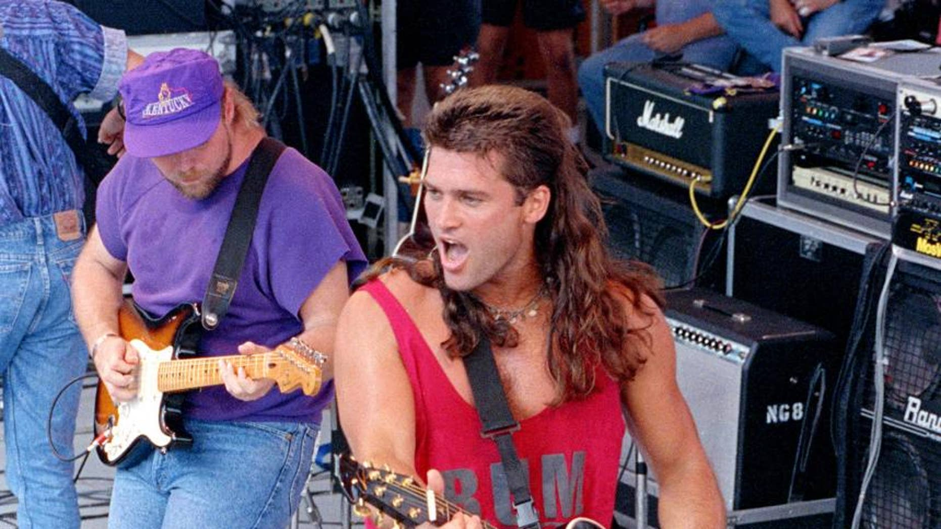 Cyrus performs in Nashville in 1992. (Photo credit: AP)