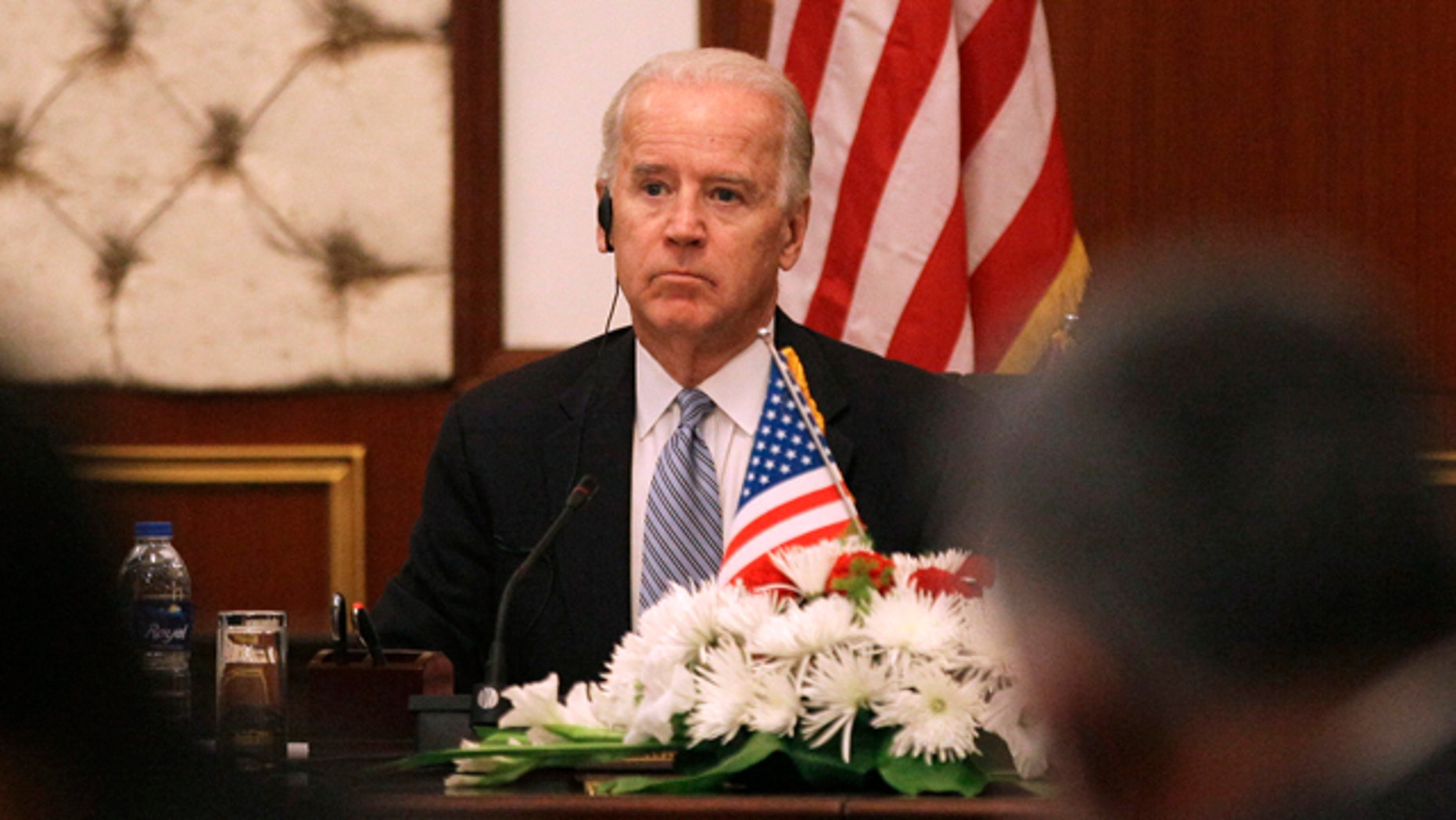 Nov. 30: U.S. Vice President Joe Biden attends a joint news conference with Iraqi prime minister in Baghdad.