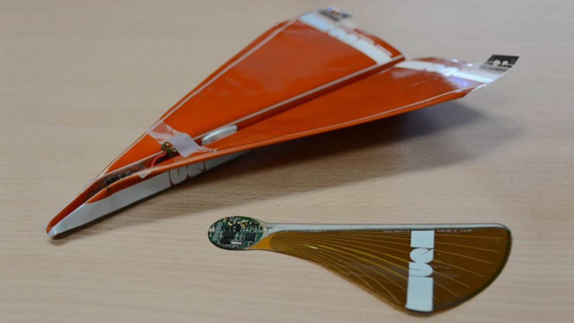 The prototype looks like a standard paper airplane, only this drone is made of biodegradable cellulose material.