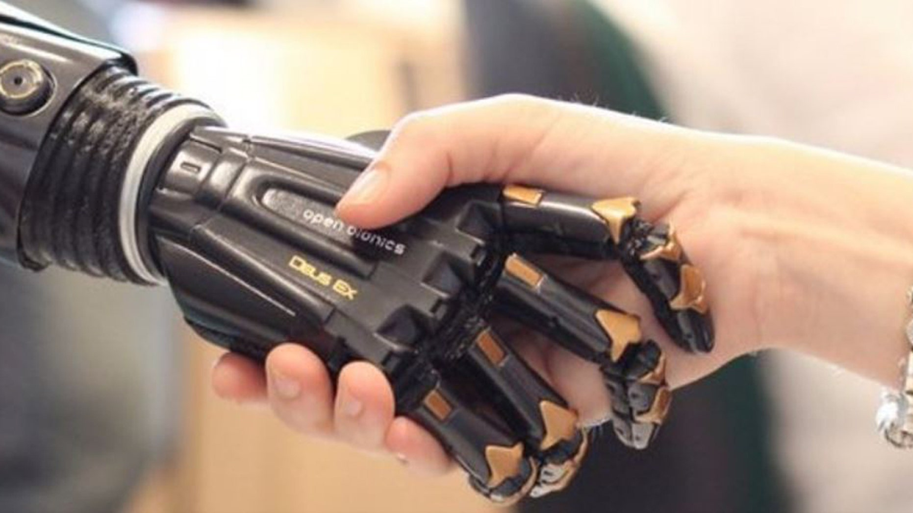 Open Bionics is based in the United Kingdom and produces 3D-printed prosthetics like the one above.