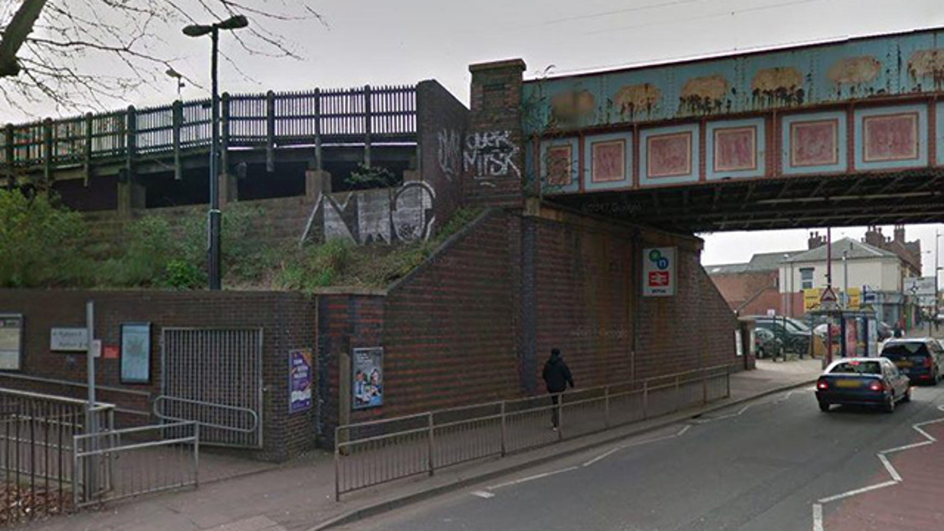 Police say a 15-year-old girl was raped at this train station in Birmingham, England.