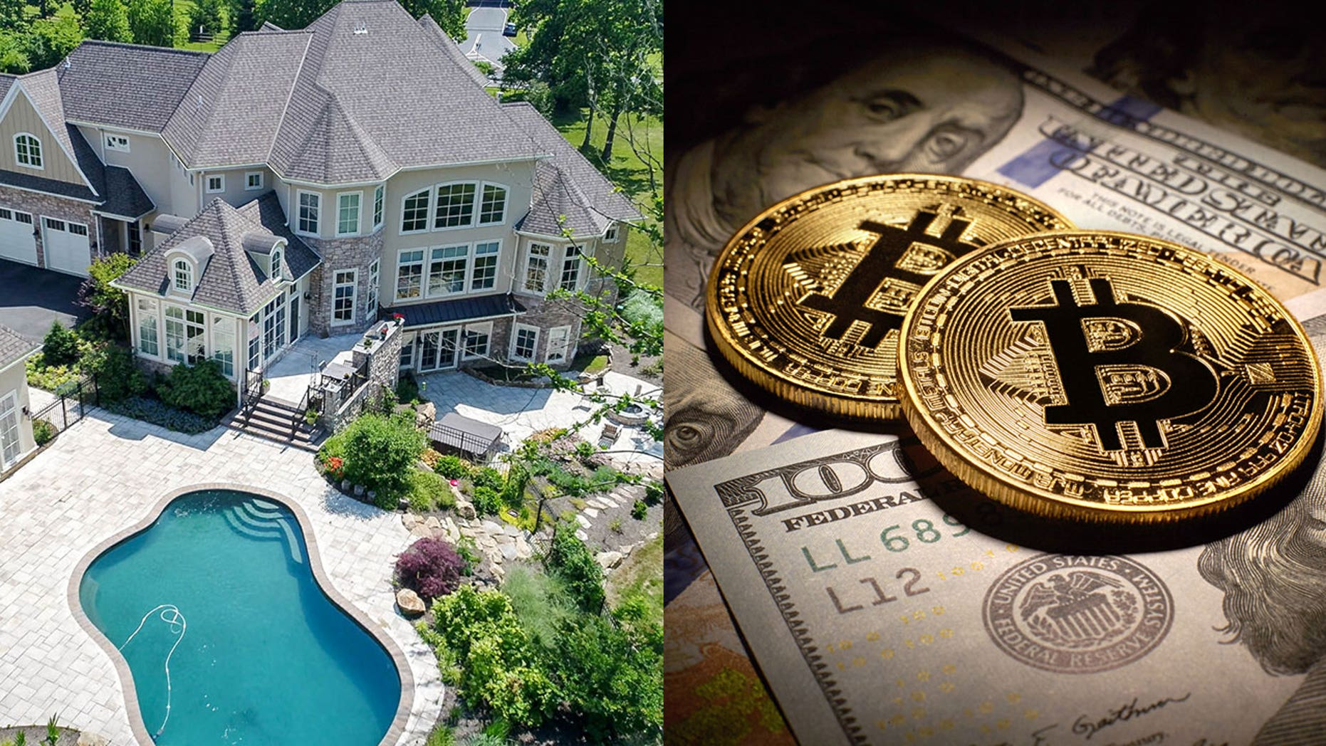 A home in Newark, Del., is selling for just under a few hundred crpto-coins.