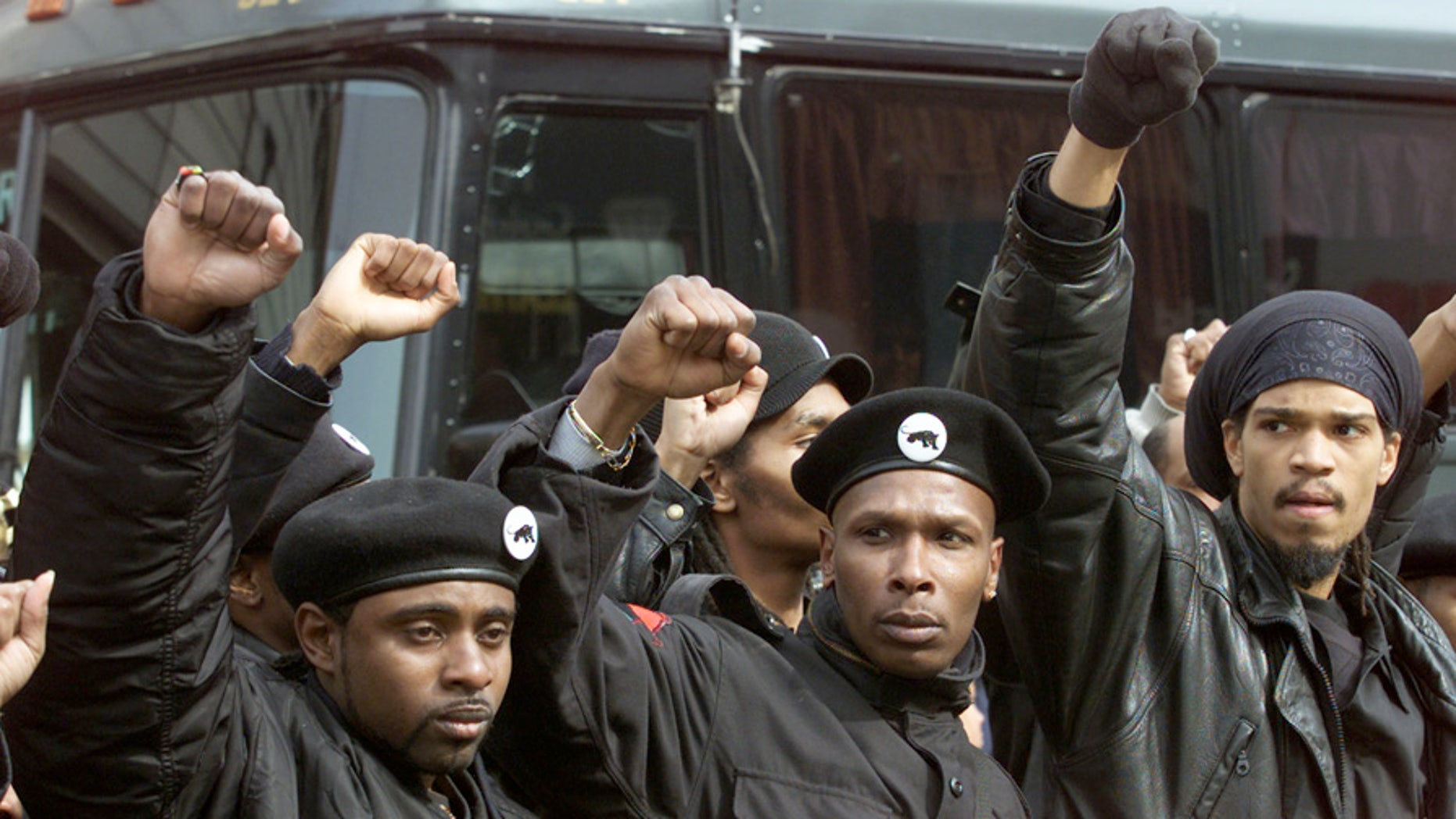 Members of the New Black Panther Party in New York in February 2001.