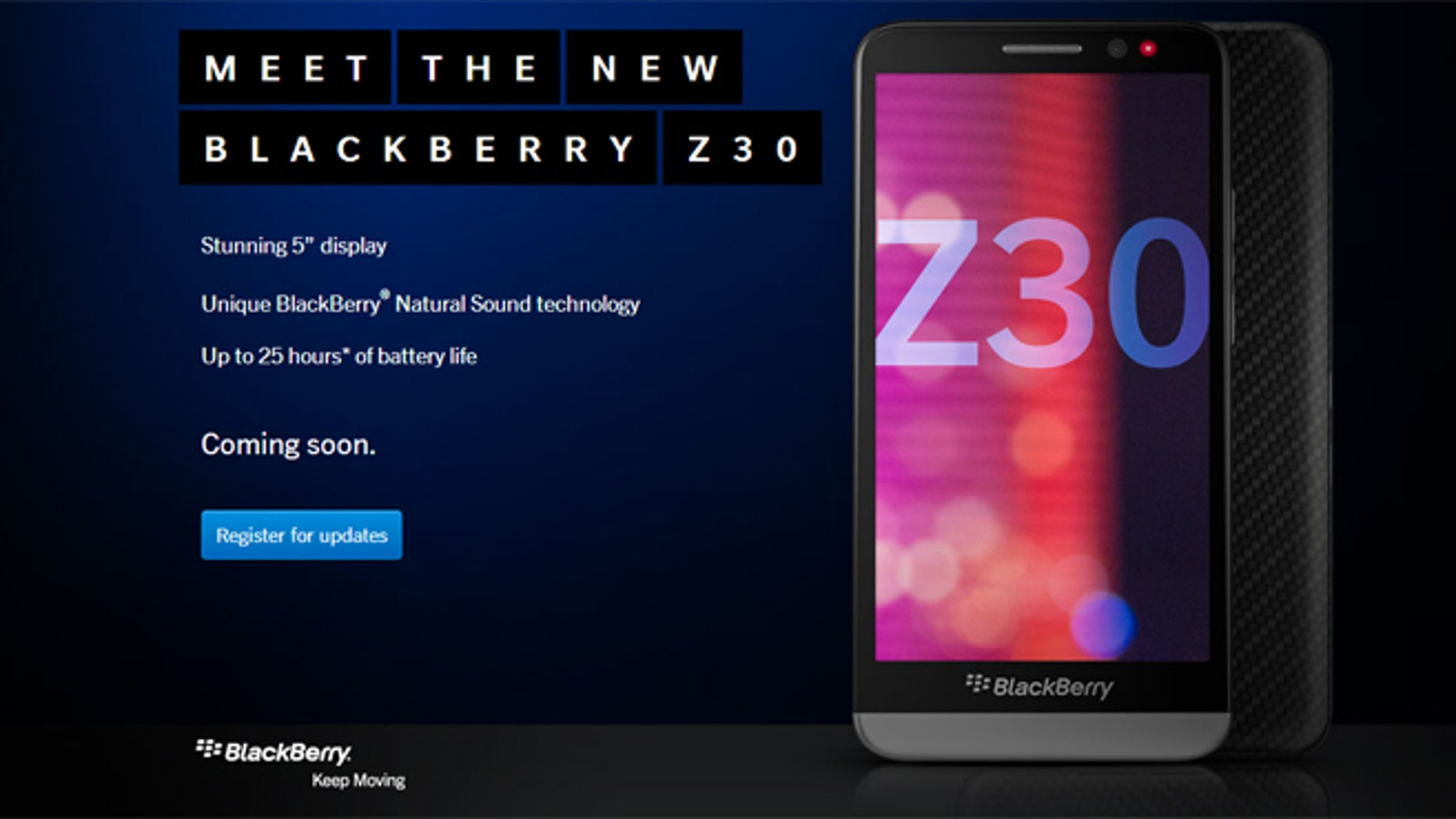 BlackBerry has unveiled its new Z30 smartphone.