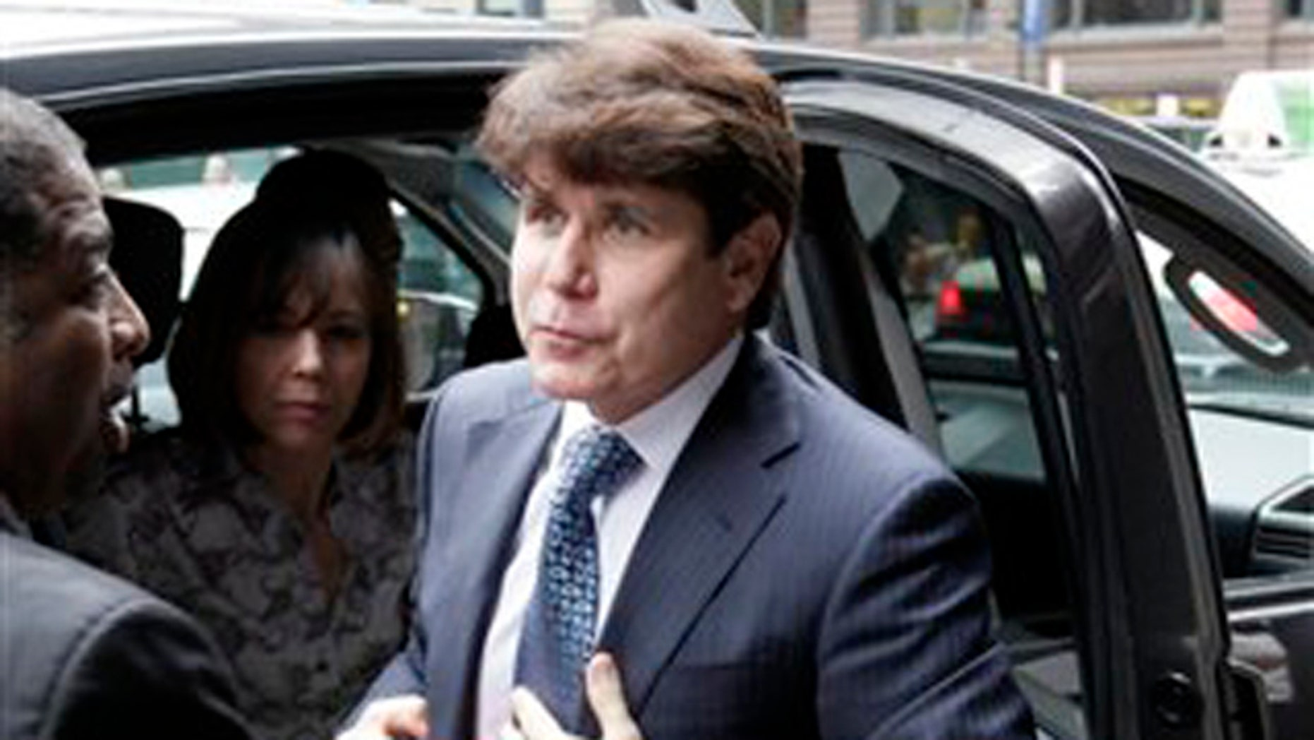 Aug. 17, 2010: Former Illinois Gov. Rod Blagojevich and his wife Patti arrive at the Federal Court building.