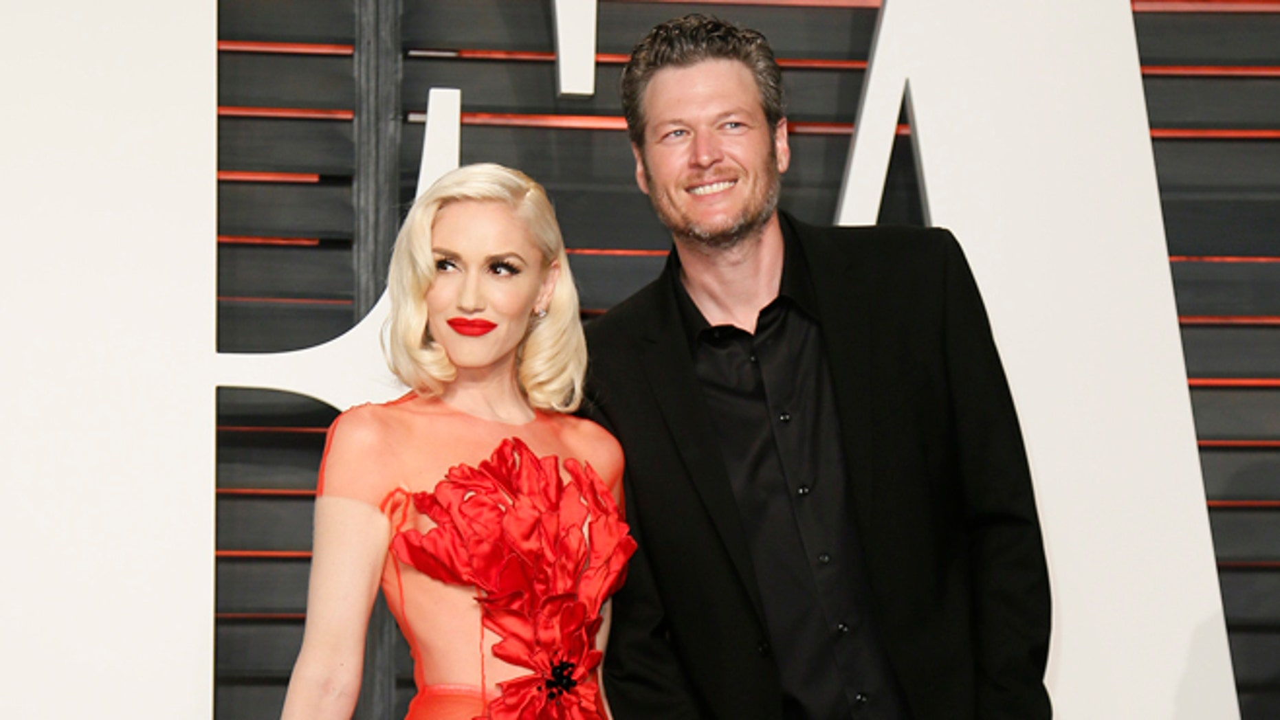 Blake Shelton shared a pinup-style photo of girlfriend Gwen Stefani for the pop star's 49th birthday.
