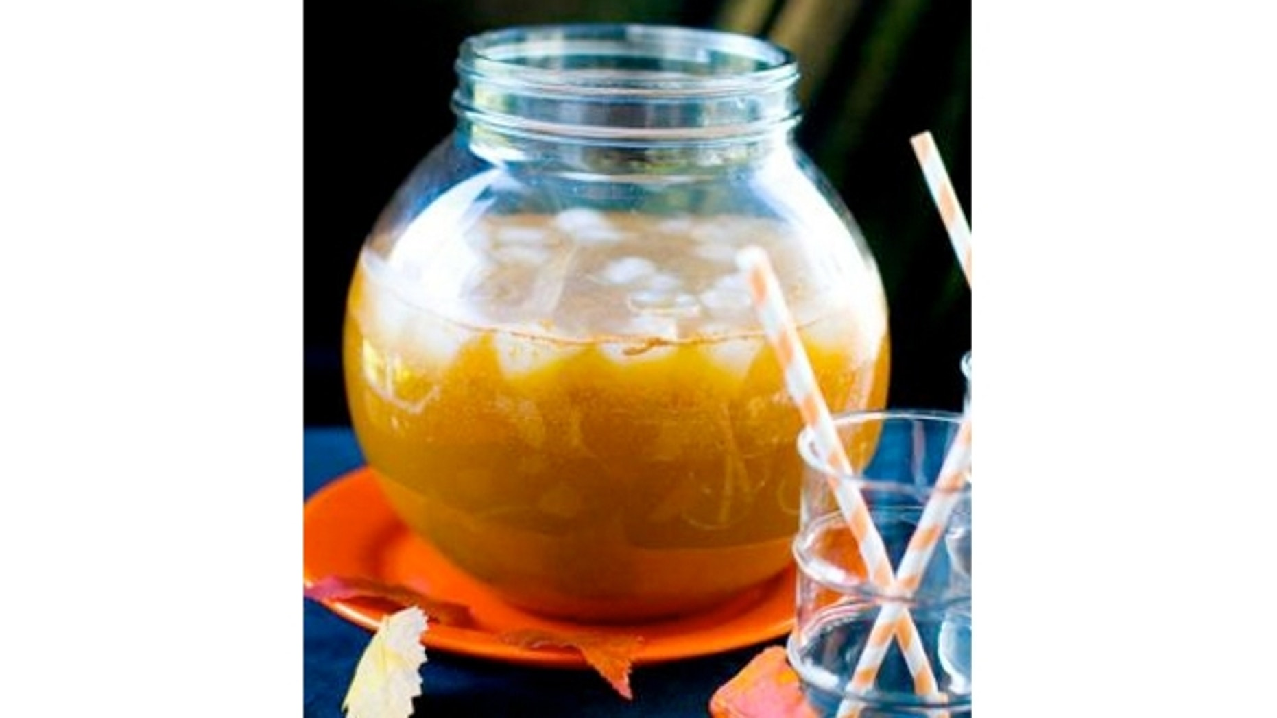 Bloody Cider Punch mixes brandy, schnapps or cordial and apple cider for a refreshing taste that still packs a punch.