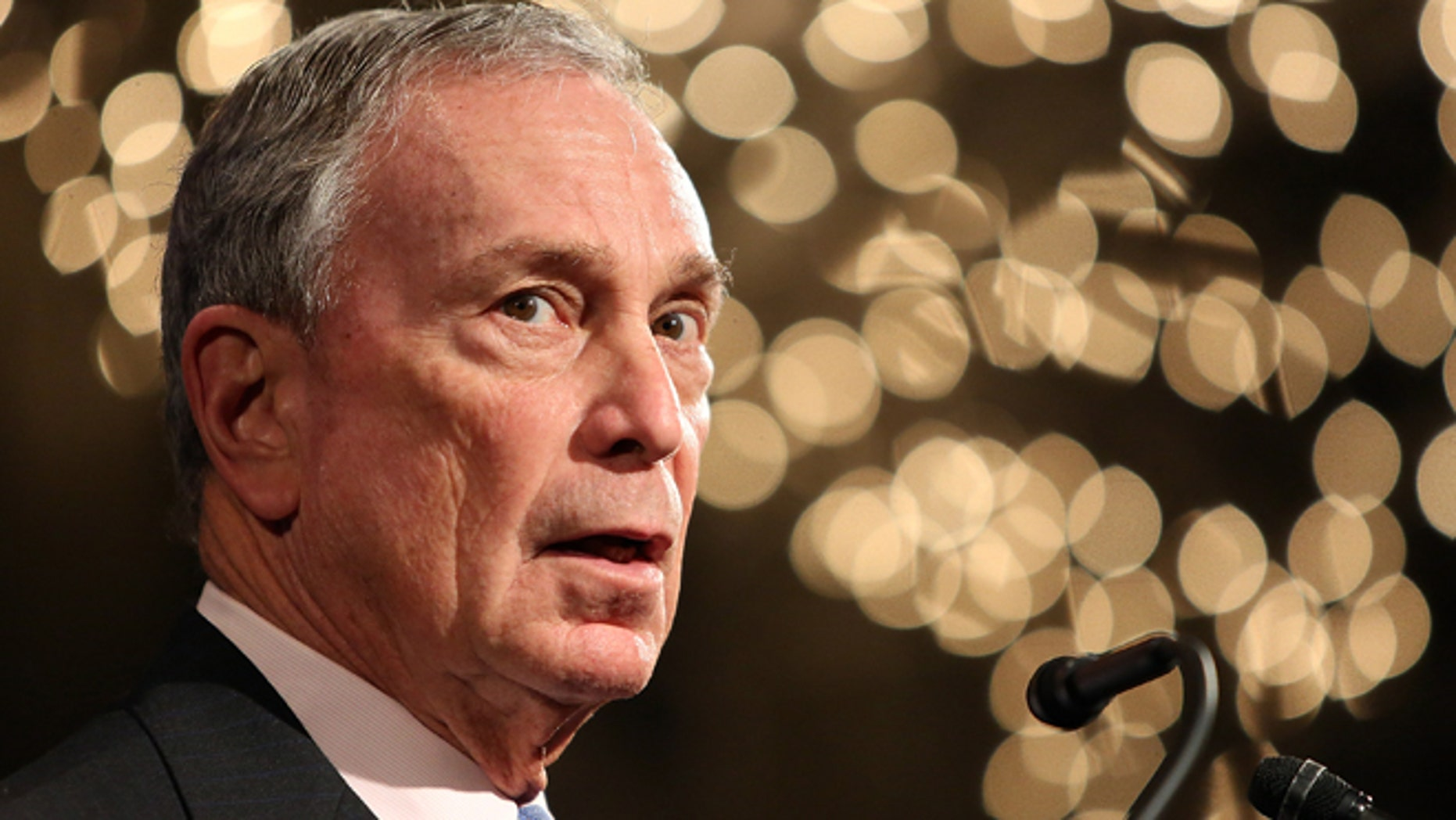 """NEW YORK, NY - FEBRUARY 10:  (EXCLUSIVE ACCESS, SPECIAL RATES APPLY) Former Mayor of New York City, Michael Bloomberg, speaks at the """"Not One More"""" Event at Urban Zen on February 10, 2015 in New York City.  (Photo by Monica Schipper/Getty Images)"""