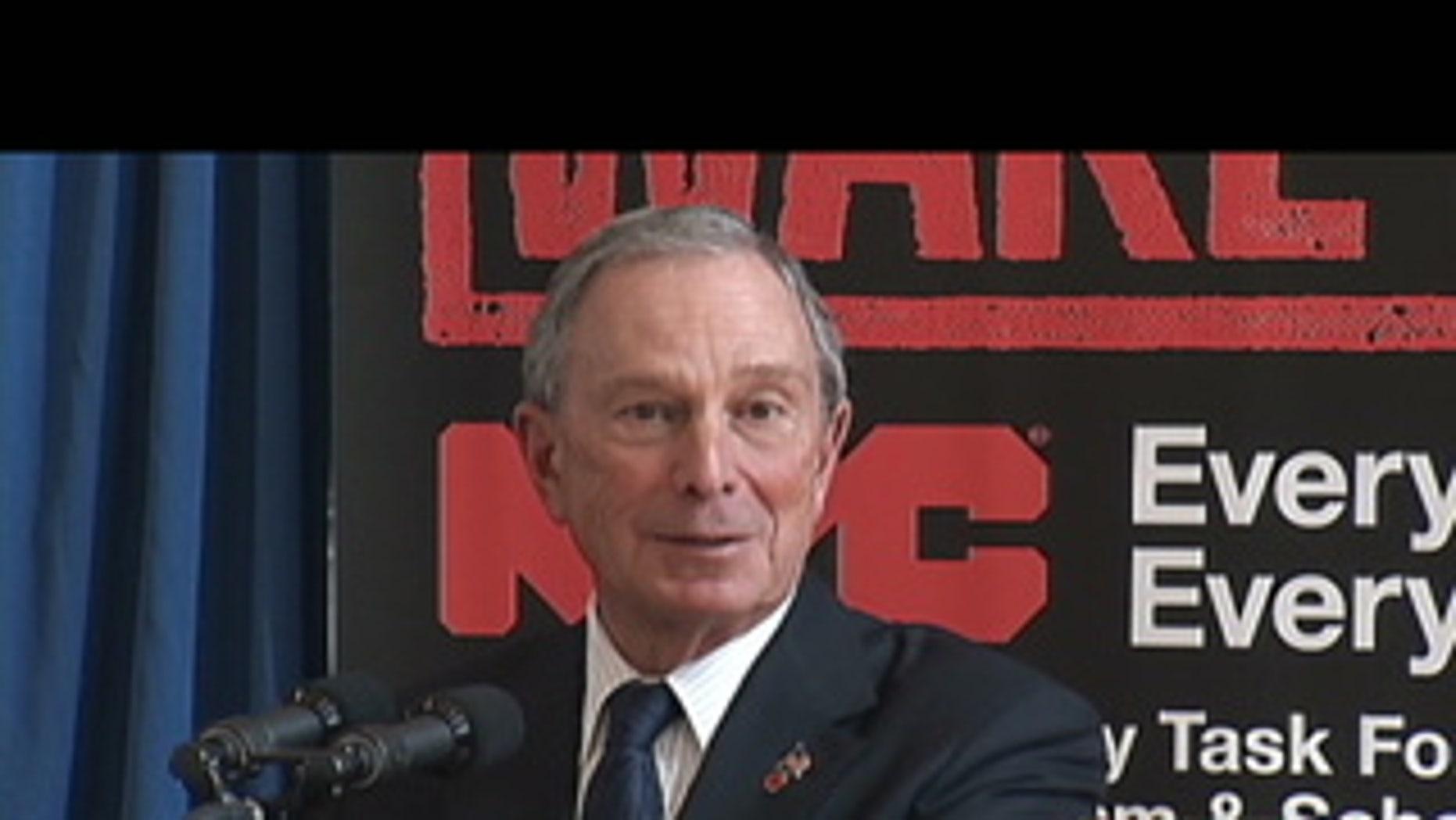 New York City Mayor Michael Bloomberg.