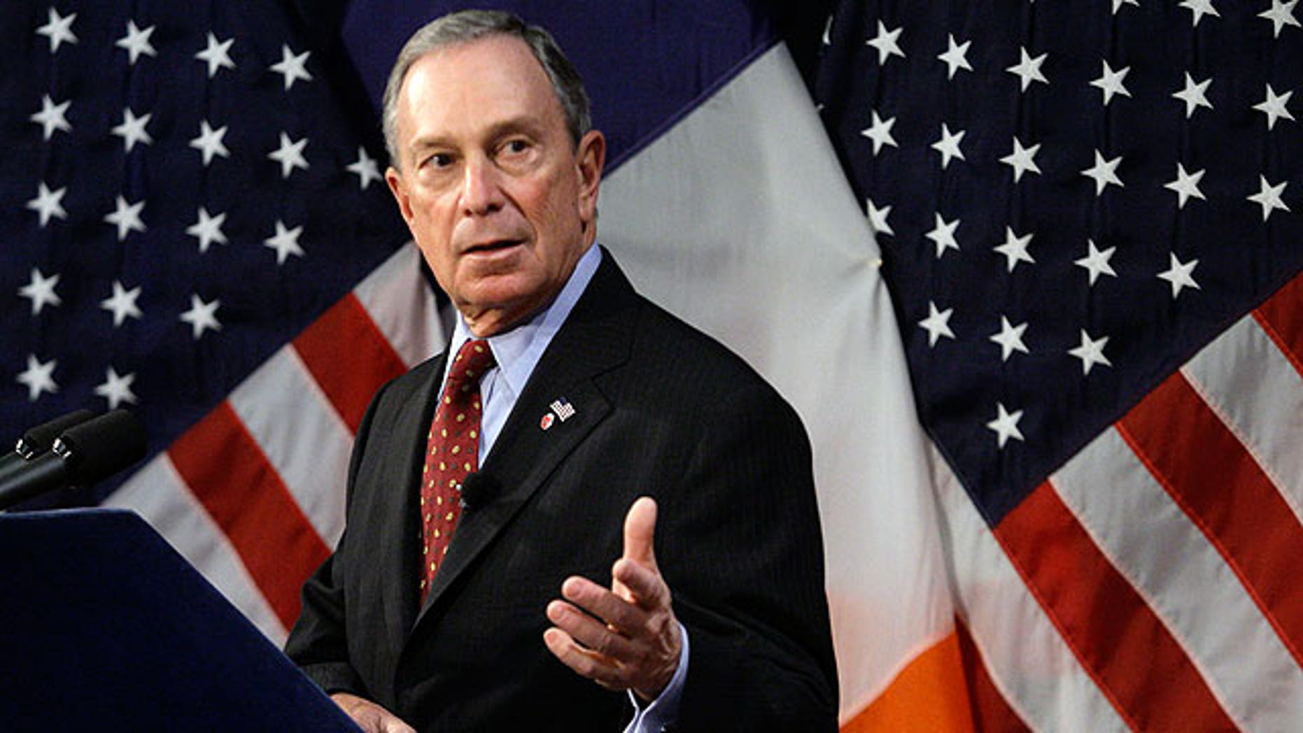 New York City Mayor Michael Bloomberg addresses the media during a news conference at City Hall in New York, Thursday, Jan 28, 2010. (AP)