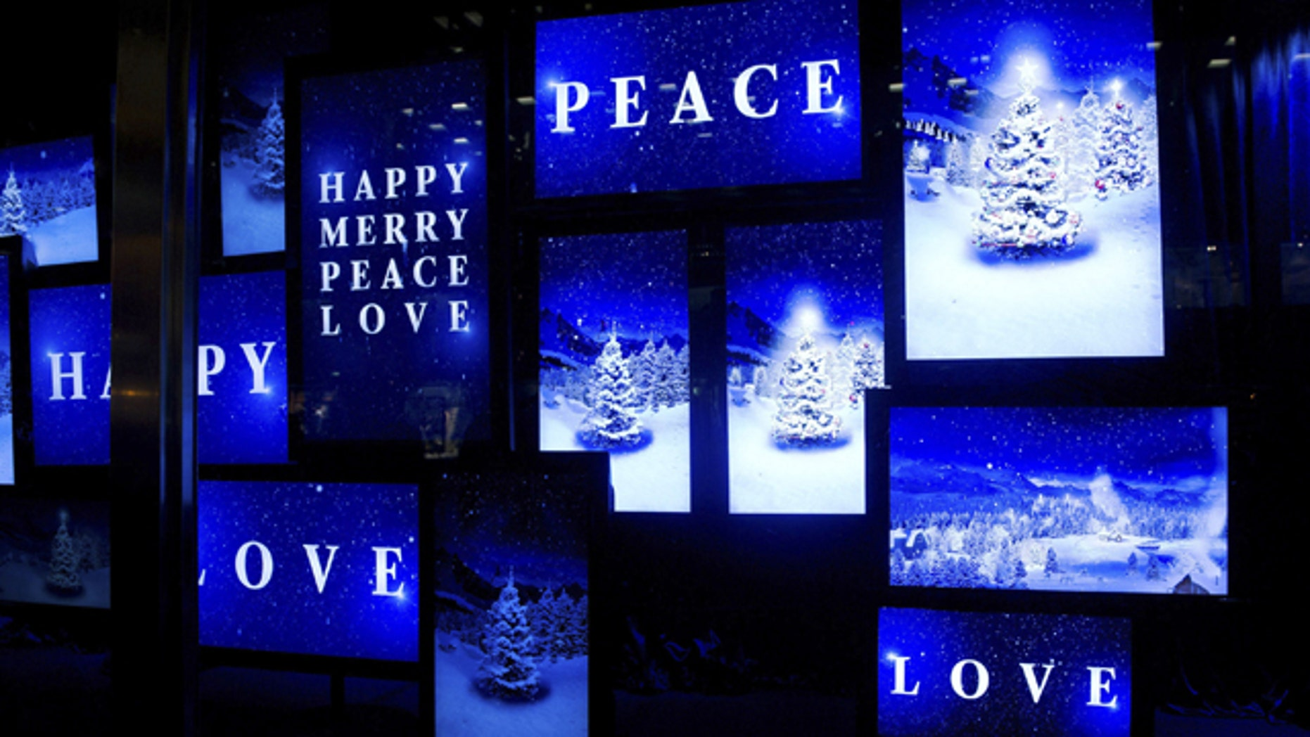 This Thursday, Nov. 18, 2010 file photo shows the Bloomingdale's holiday windows in New York.