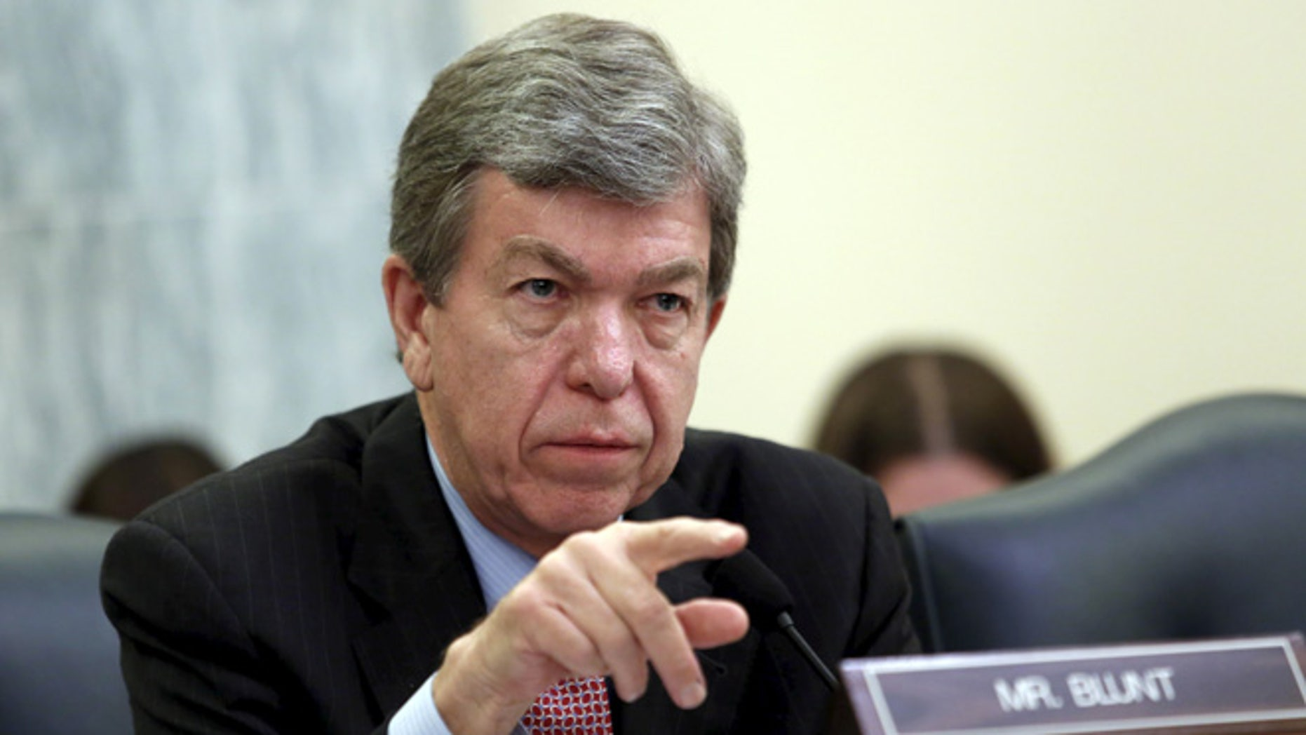 June 10, 2015: Sen. Roy Blunt speaks at a Senate Commerce Science and Transportation Committee hearing. (Reuters)