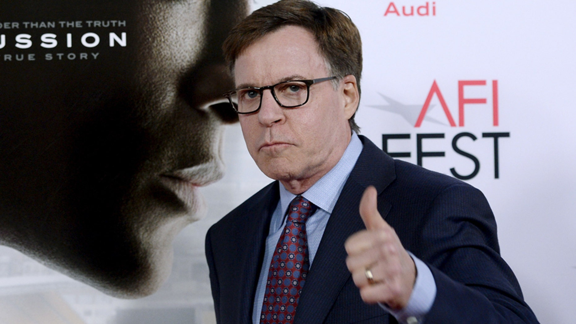 """Sportscaster, Bob Costas speaks out about the Super Bowl LII special and why he is not hosting. Here Costas poses during the premiere of the film """"Concussion"""" during AFI Fest 2015"""