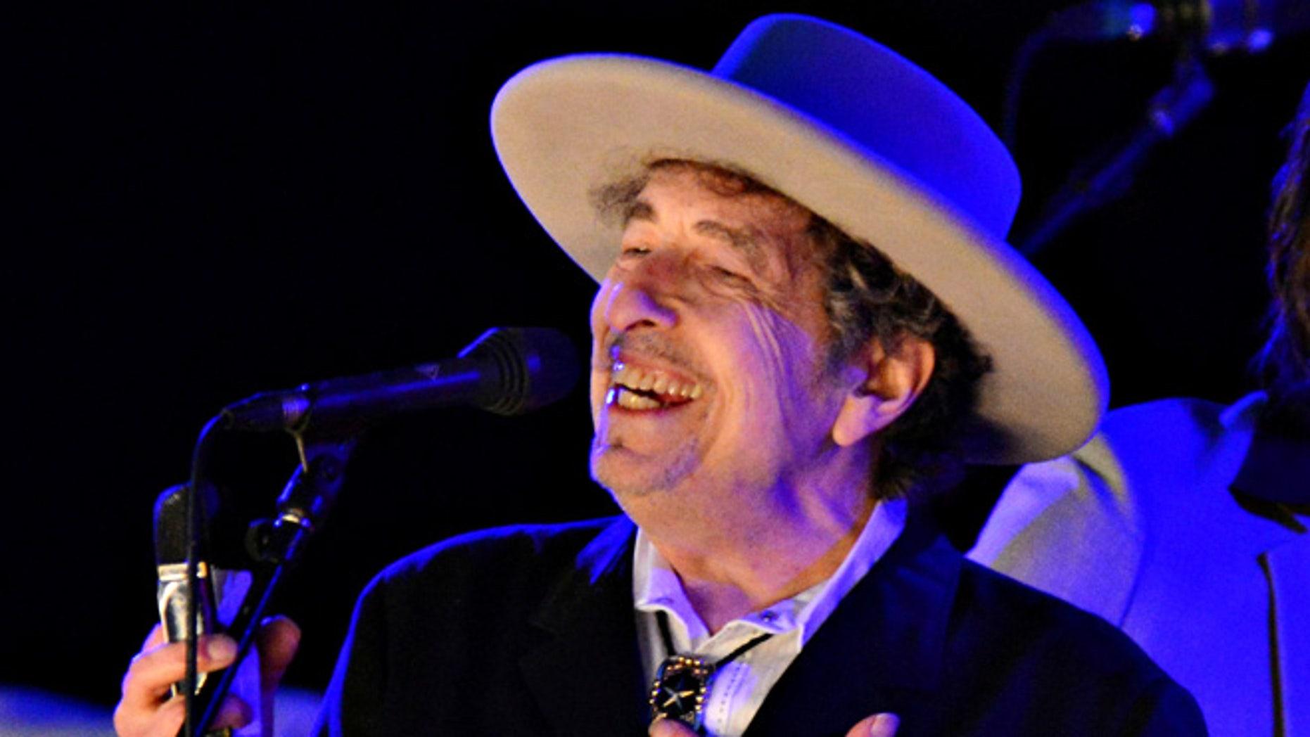 Bob Dylan has finally received his Nobel Prize.