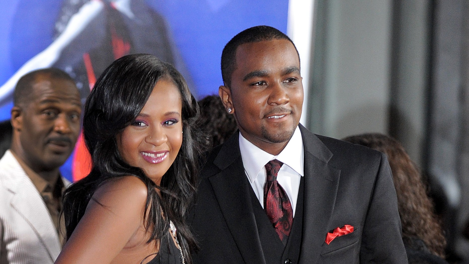 "Aug. 16, 2012. Bobbi Kristina Brown, left, and Nick Gordon attend the Los Angeles premiere of ""Sparkle"" in Los Angeles."
