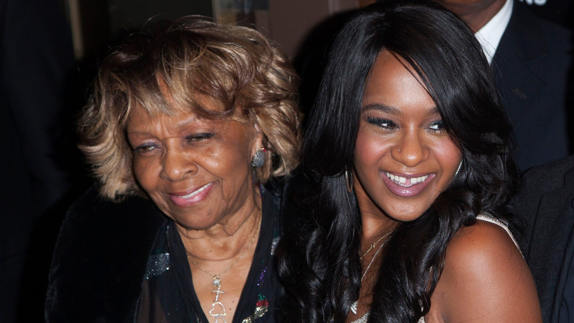 """Oct. 22, 2012: Cissy Houston and Bobbi Kristina Brown (R) attend the opening night of """"The Houstons: On Our Own"""" in New York."""