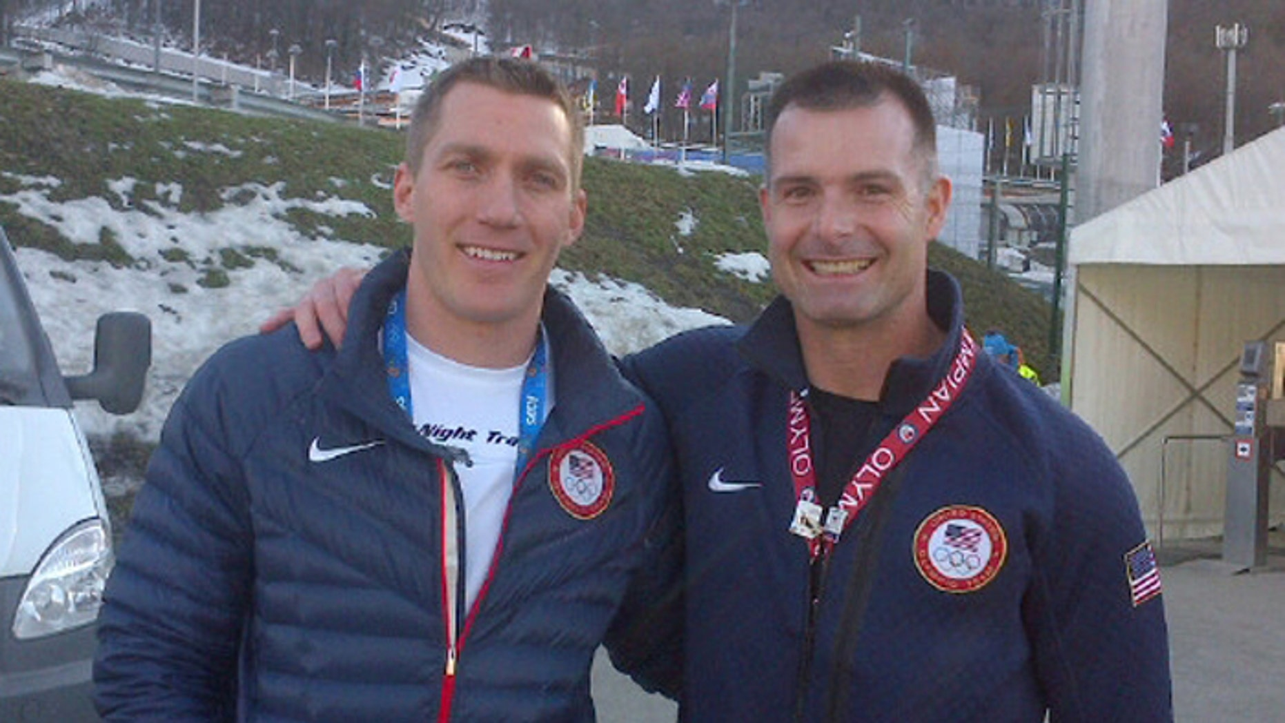 1st Lt. Mike Kohn, (r.), and Capt. Chris Fogt, (l.), are in Sochi to compete for Team USA in the bobsled event. (Fox News)