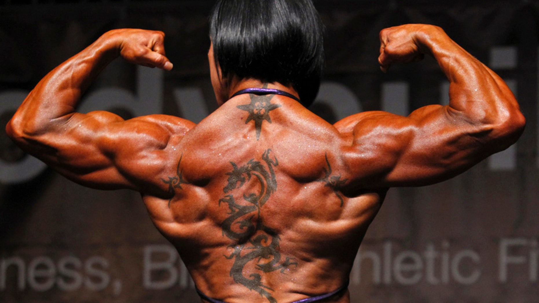 May 13, 2012: A participant poses during the European Bodybuilding Competition in Zagreb.