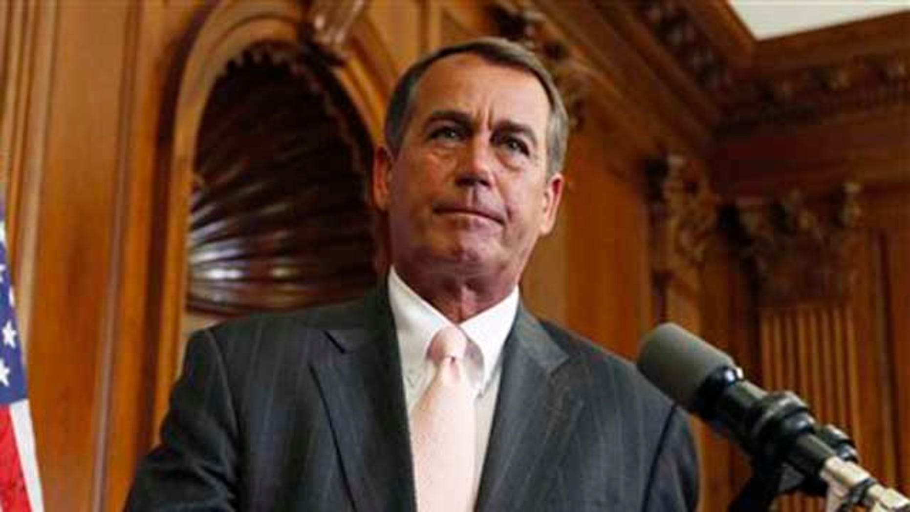 June 16, 2010: House Minority John Boehner, R-Ohio, participates in a ceremony on Capitol Hill in Washington. Boehner recently came under scrutiny for his financial relationship with lobbyists. (AP).