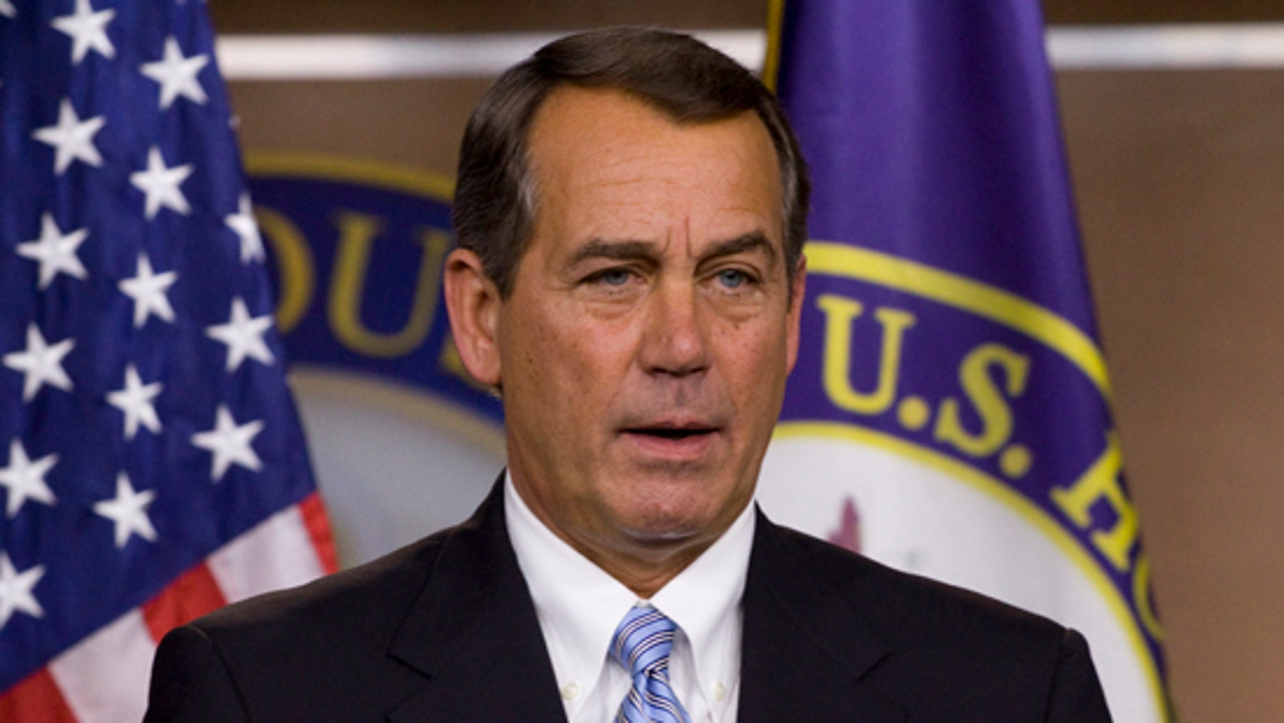 House Minority Leader John Boehner of Ohio speaks at a news conference on Capitol Hill in Washington, Thursday, March 25, 2010. (AP)
