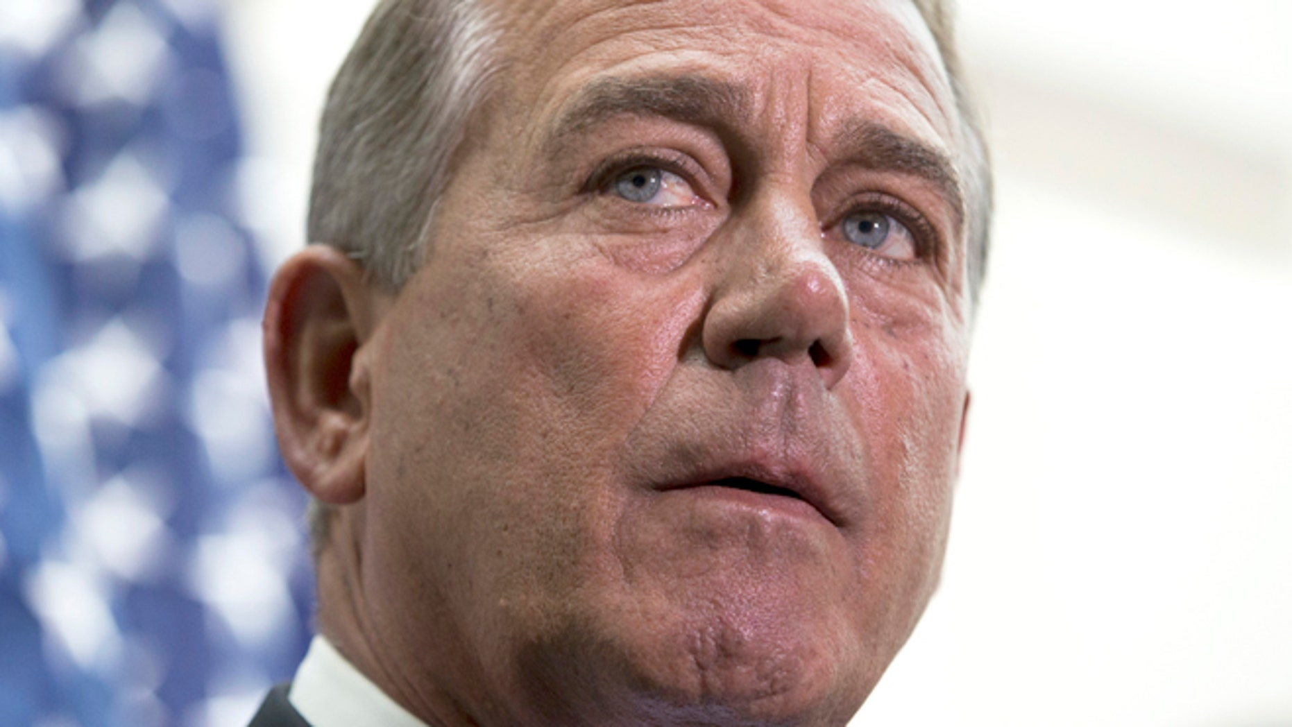 July 9, 2014: House Speaker John Boehner participates in a news conference on Capitol Hill.