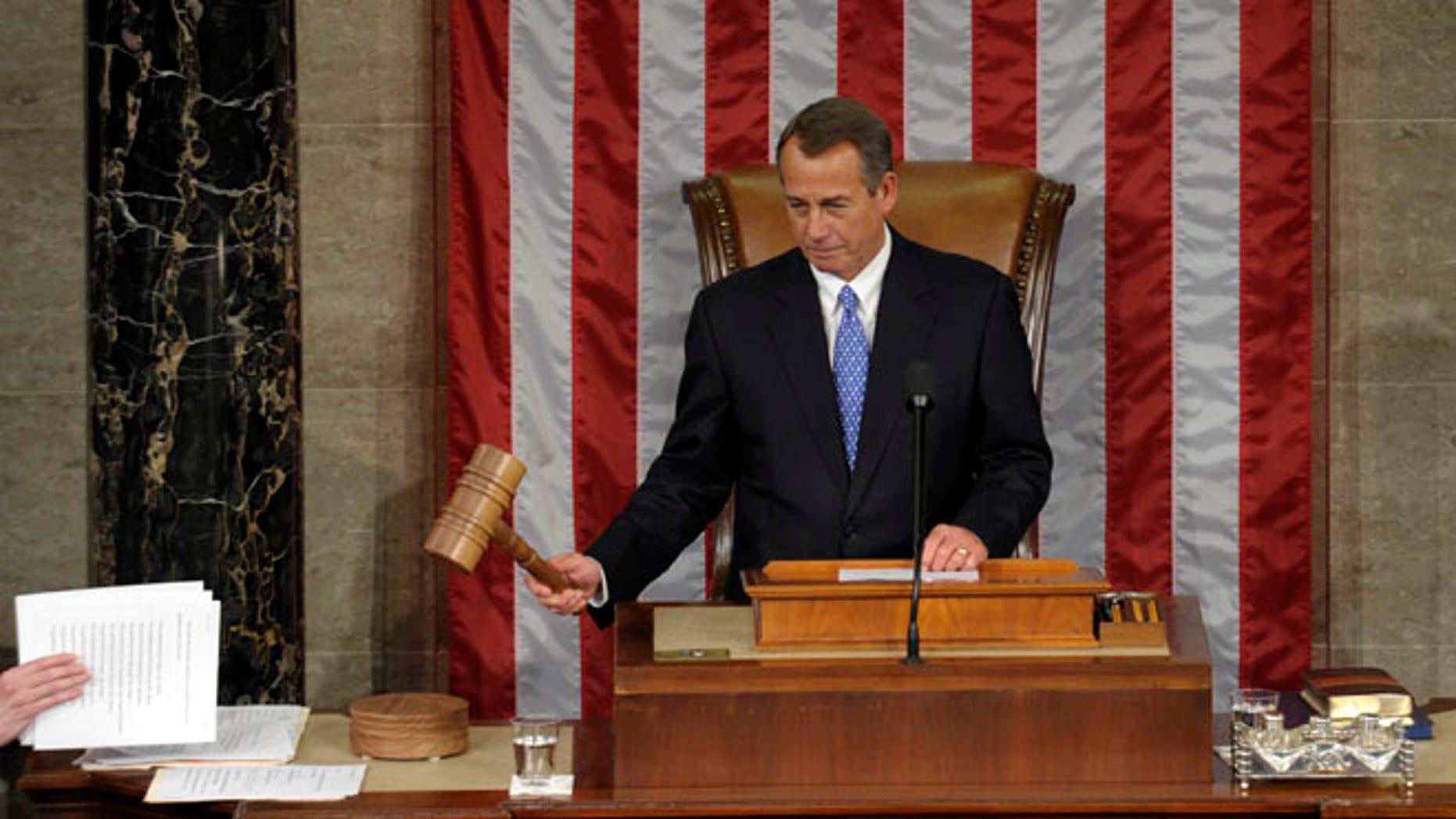 House Speaker Sen. John Boehner, R-Iowa